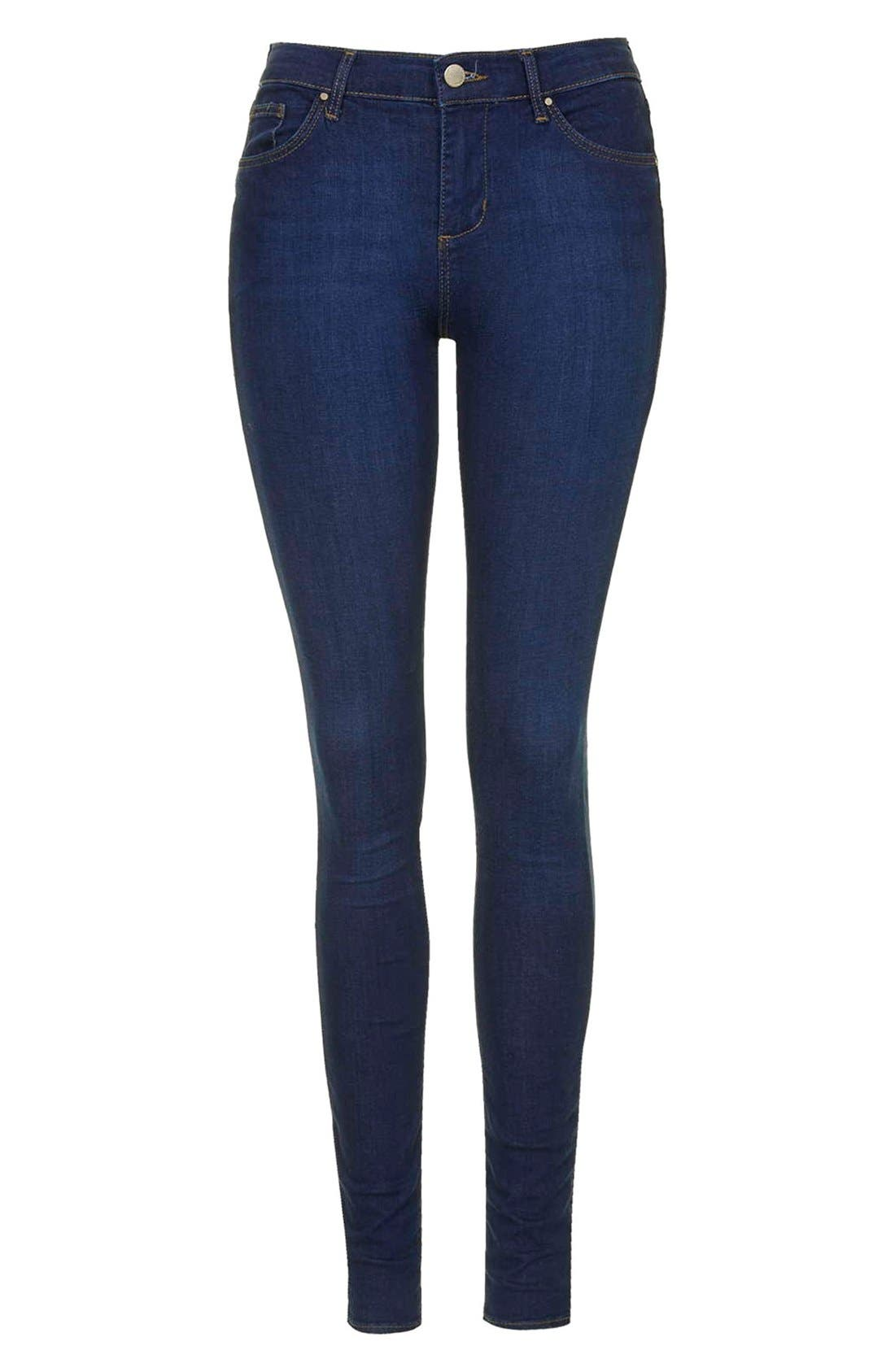 TOPSHOP, Moto 'Leigh' Ankle Skinny Jeans, Alternate thumbnail 2, color, 410