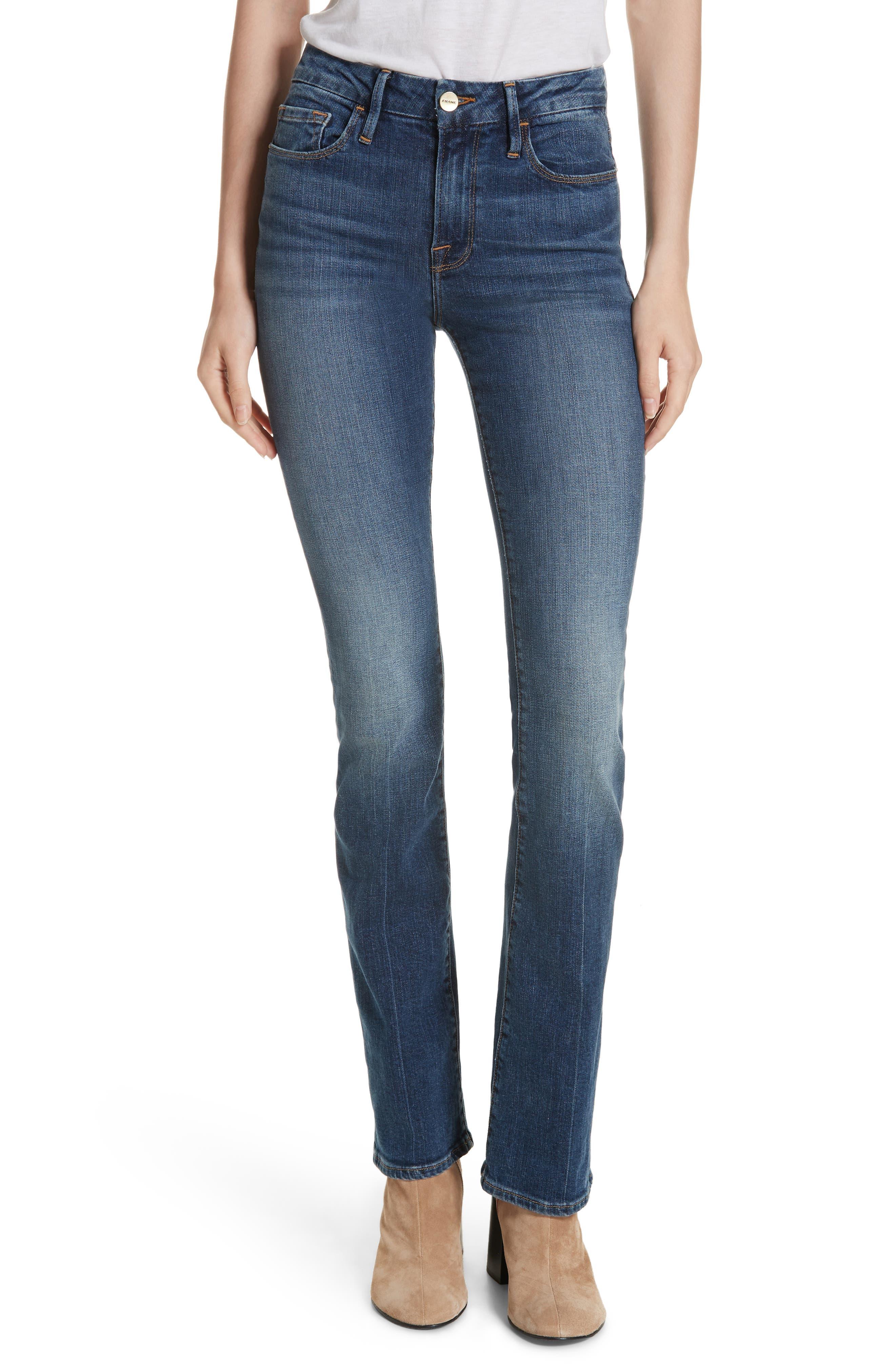 FRAME Le Mini Boot Jeans, Main, color, BLENDON