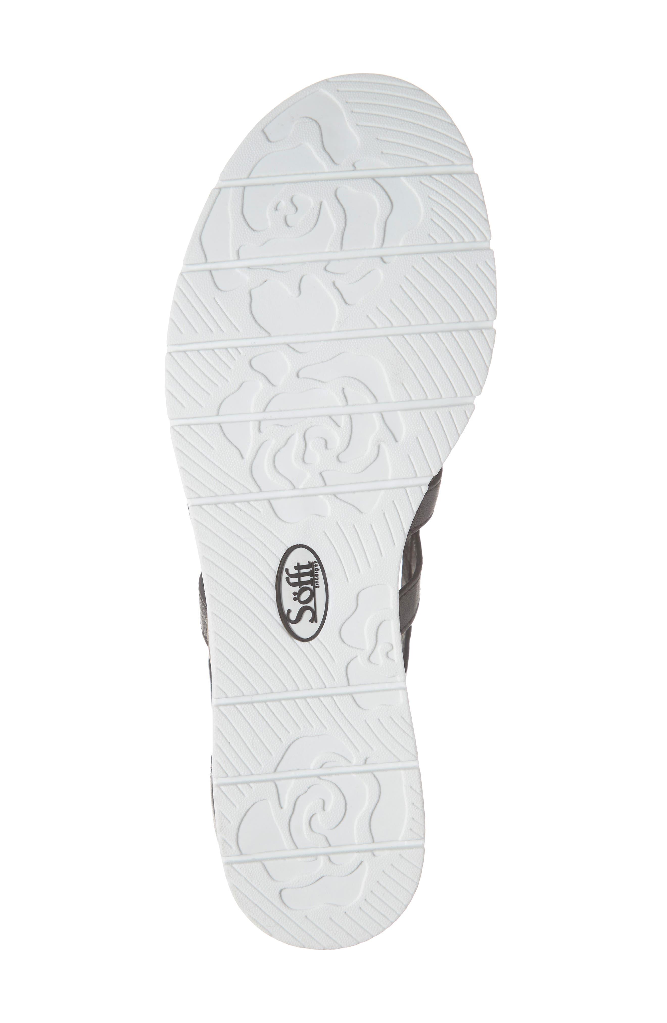 SÖFFT, Mahari Gladiator Sandal, Alternate thumbnail 6, color, BLACK LEATHER