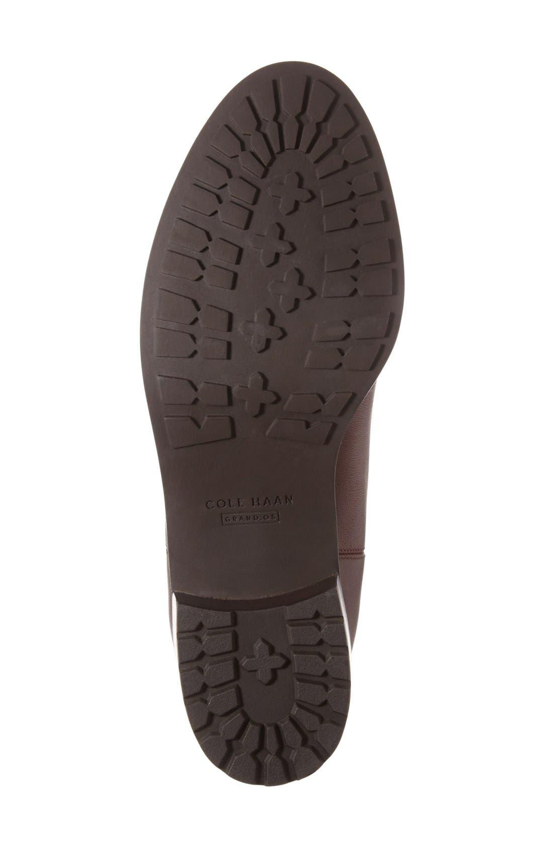 COLE HAAN, Newburg Waterproof Chelsea Boot, Alternate thumbnail 4, color, CHESTNUT LEATHER