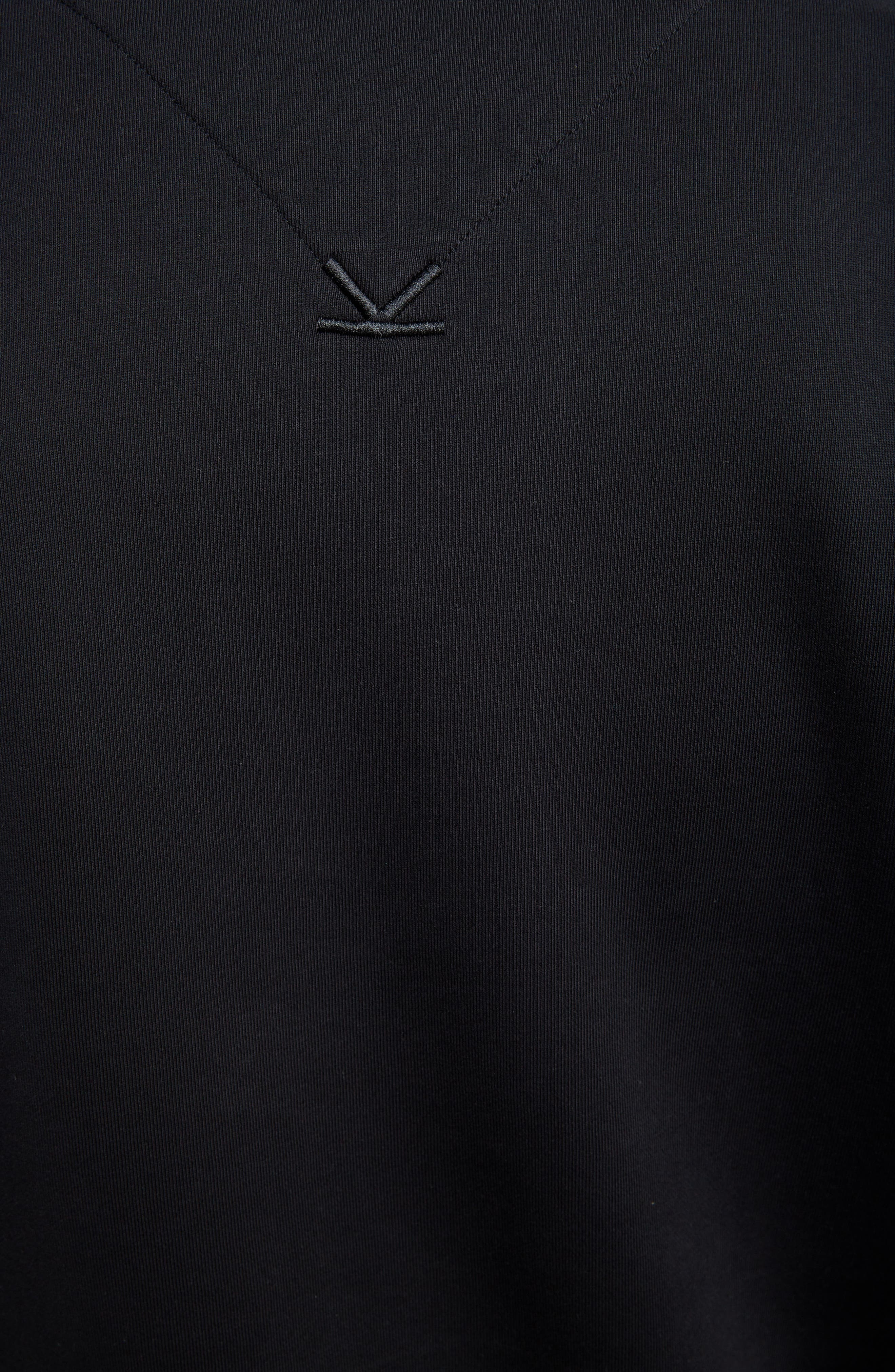 KENZO, Oversize Colorblock Sweatshirt, Alternate thumbnail 5, color, DOVE GREY