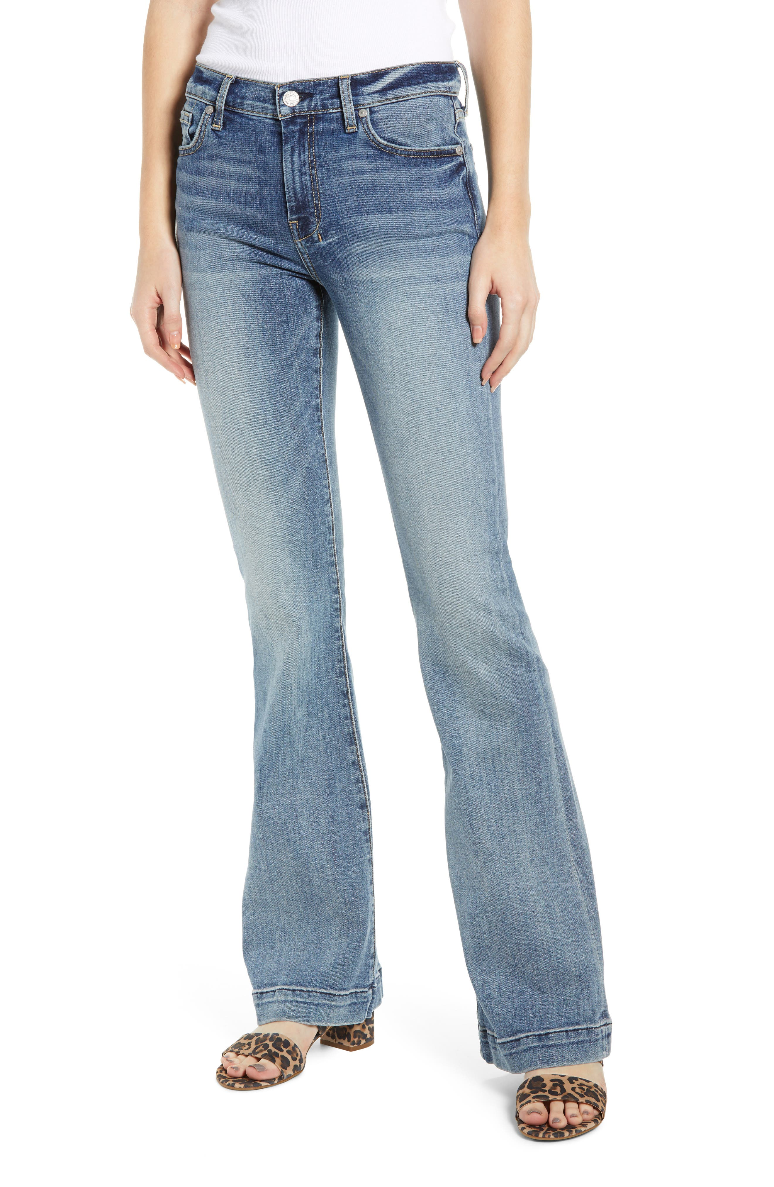 7 FOR ALL MANKIND<SUP>®</SUP>, Dojo Wide Leg Jeans, Main thumbnail 1, color, BAIR AUTHENTIC FORTUNE