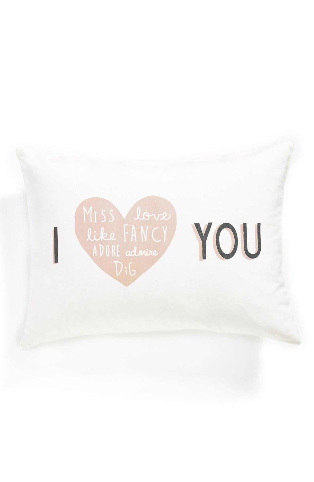NORDSTROM AT HOME, 'I Heart You' Pillow, Main thumbnail 1, color, 900