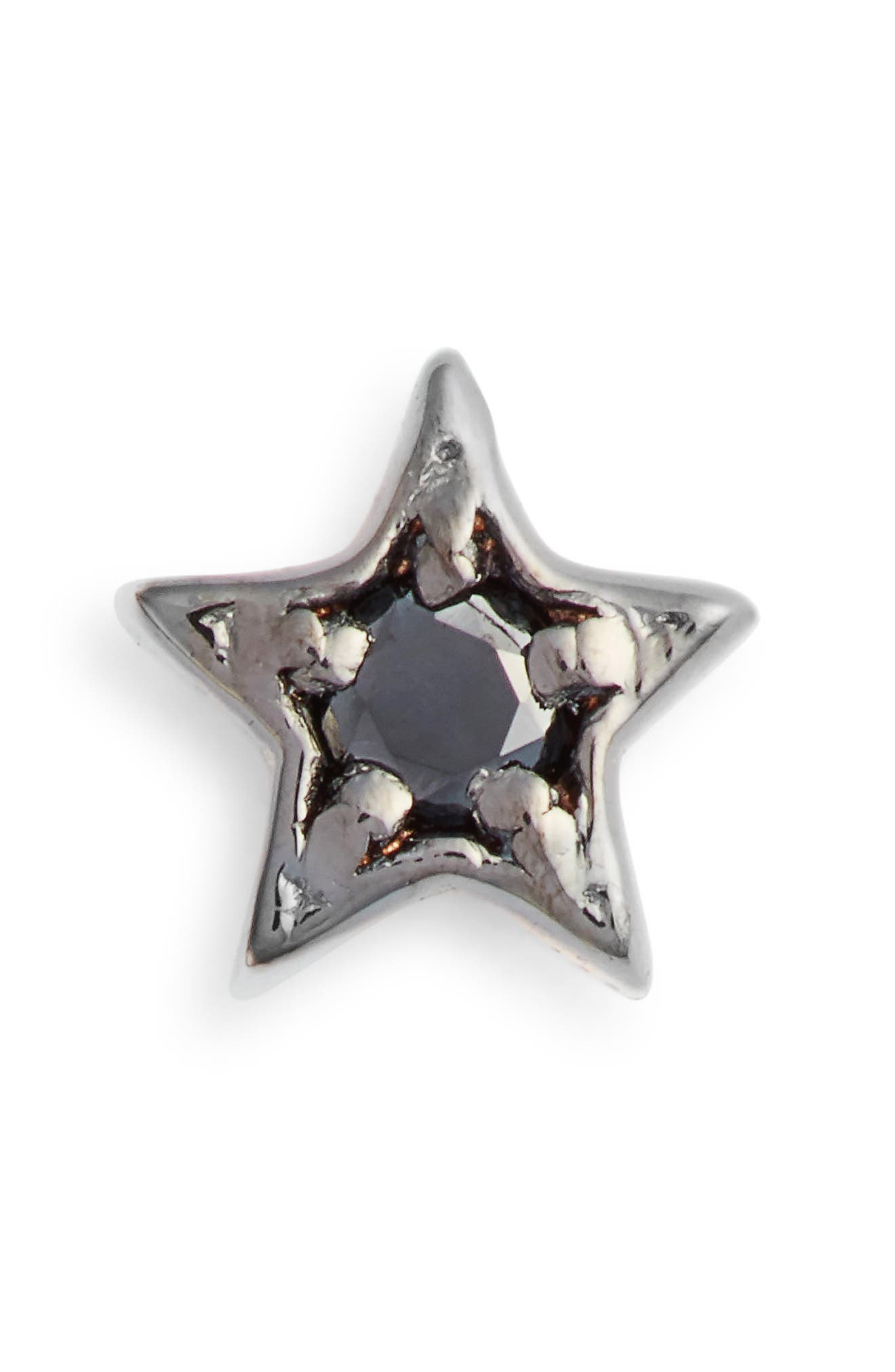 KISMET BY MILKA Single Diamond Star Stud Earring, Main, color, BLACK GOLD