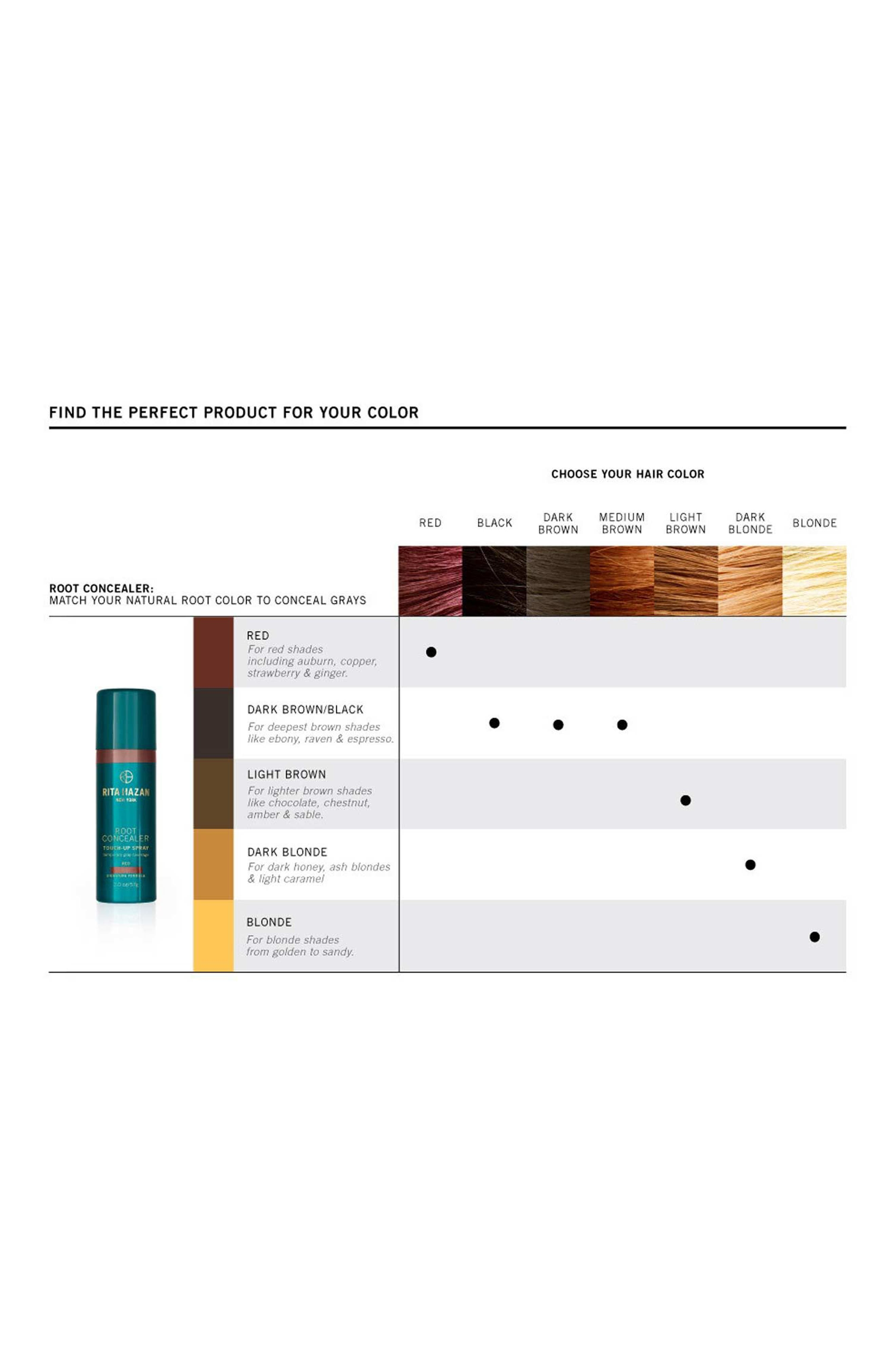 RITA HAZAN NEW YORK, Root Concealer Touch-Up Spray, Alternate thumbnail 2, color, DARK BROWN
