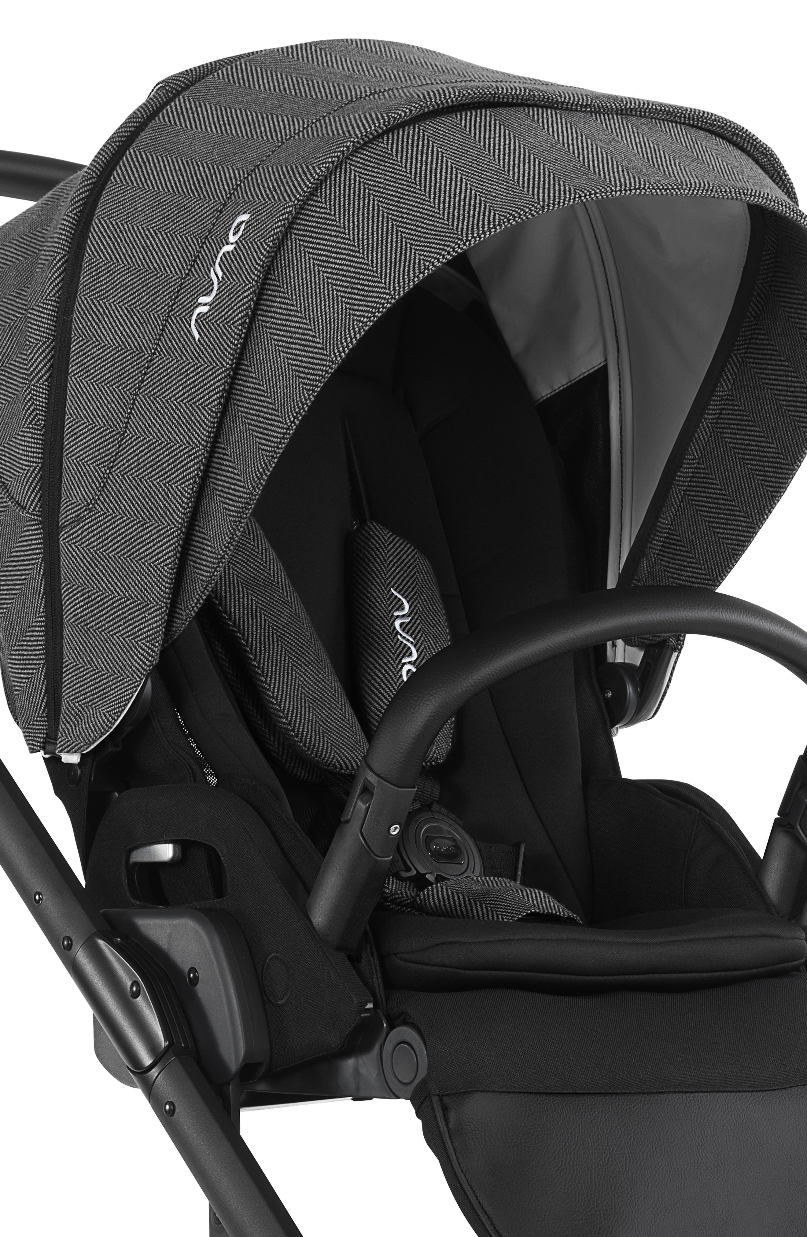 NUNA, 2019 MIXX<sup>™</sup> Stroller & PIPA<sup>™</sup> Lite LX Infant Car Seat Set Travel System, Alternate thumbnail 5, color, VERONA CAVIAR