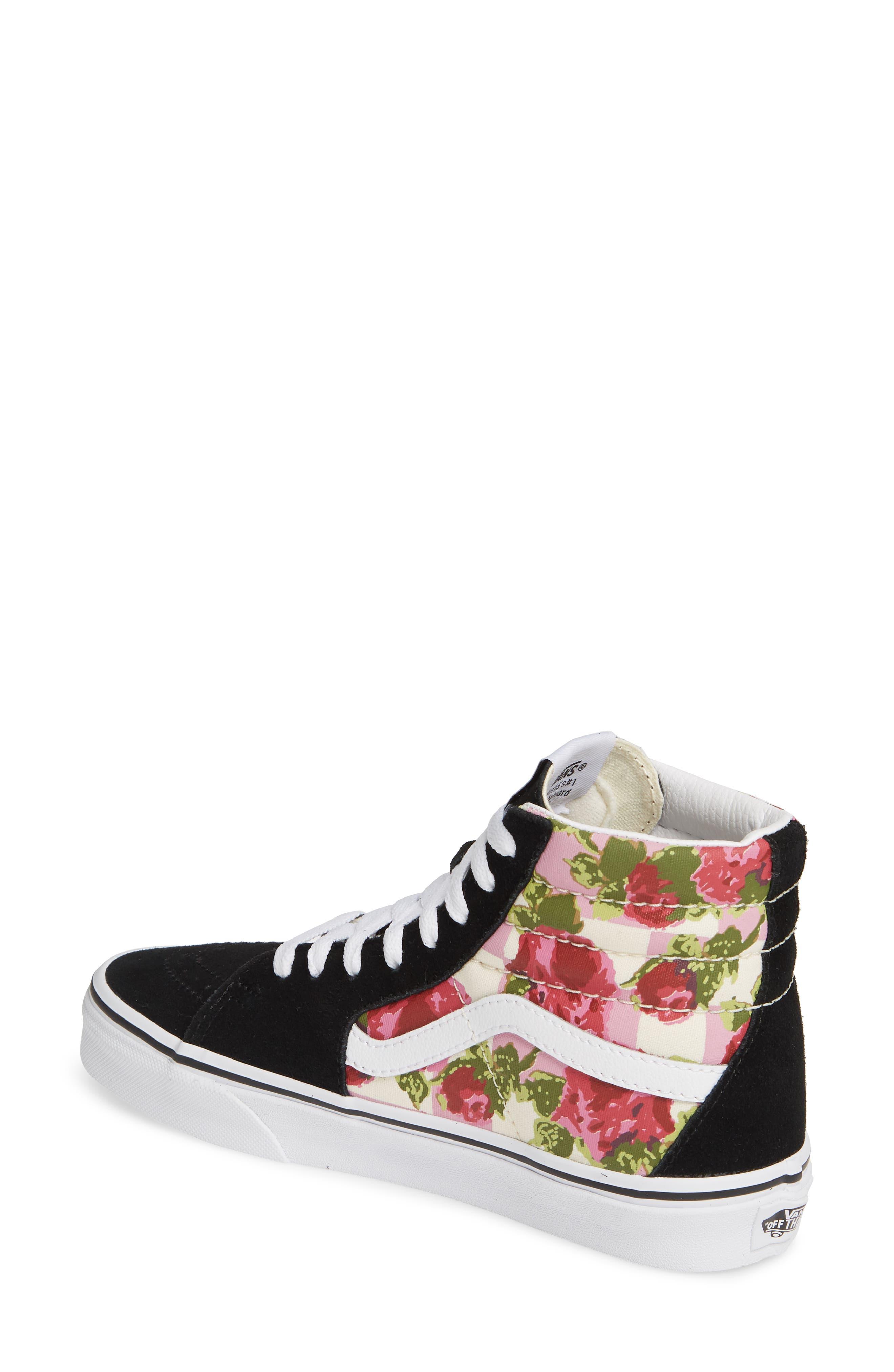 VANS, Sk8-Hi Floral Sneaker, Alternate thumbnail 2, color, FLORAL MULTI/ TRUE WHITE
