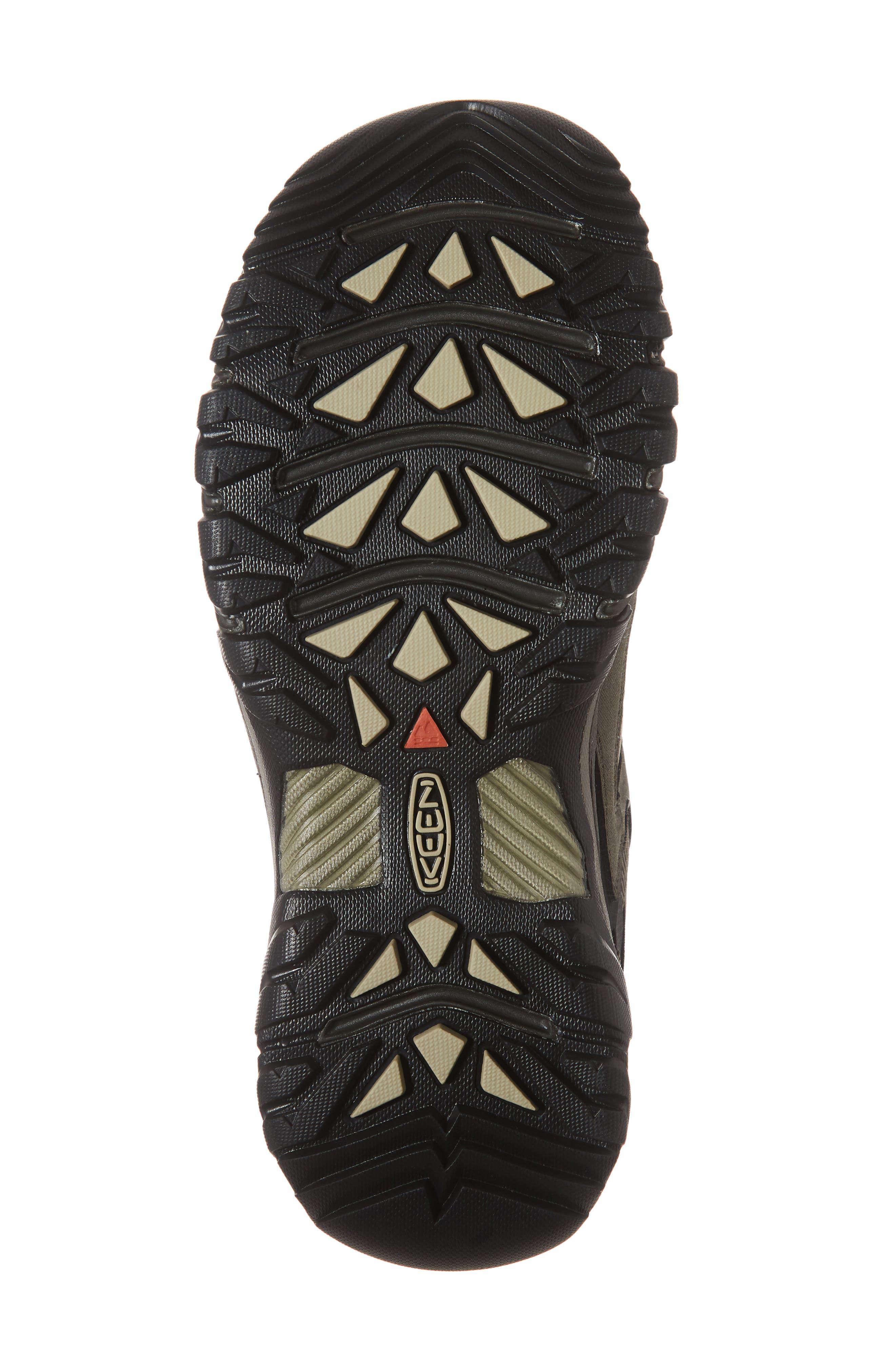 KEEN, Targhee III Waterproof Wide Hiking Shoe, Alternate thumbnail 6, color, BUNGEE CORD/ BLACK