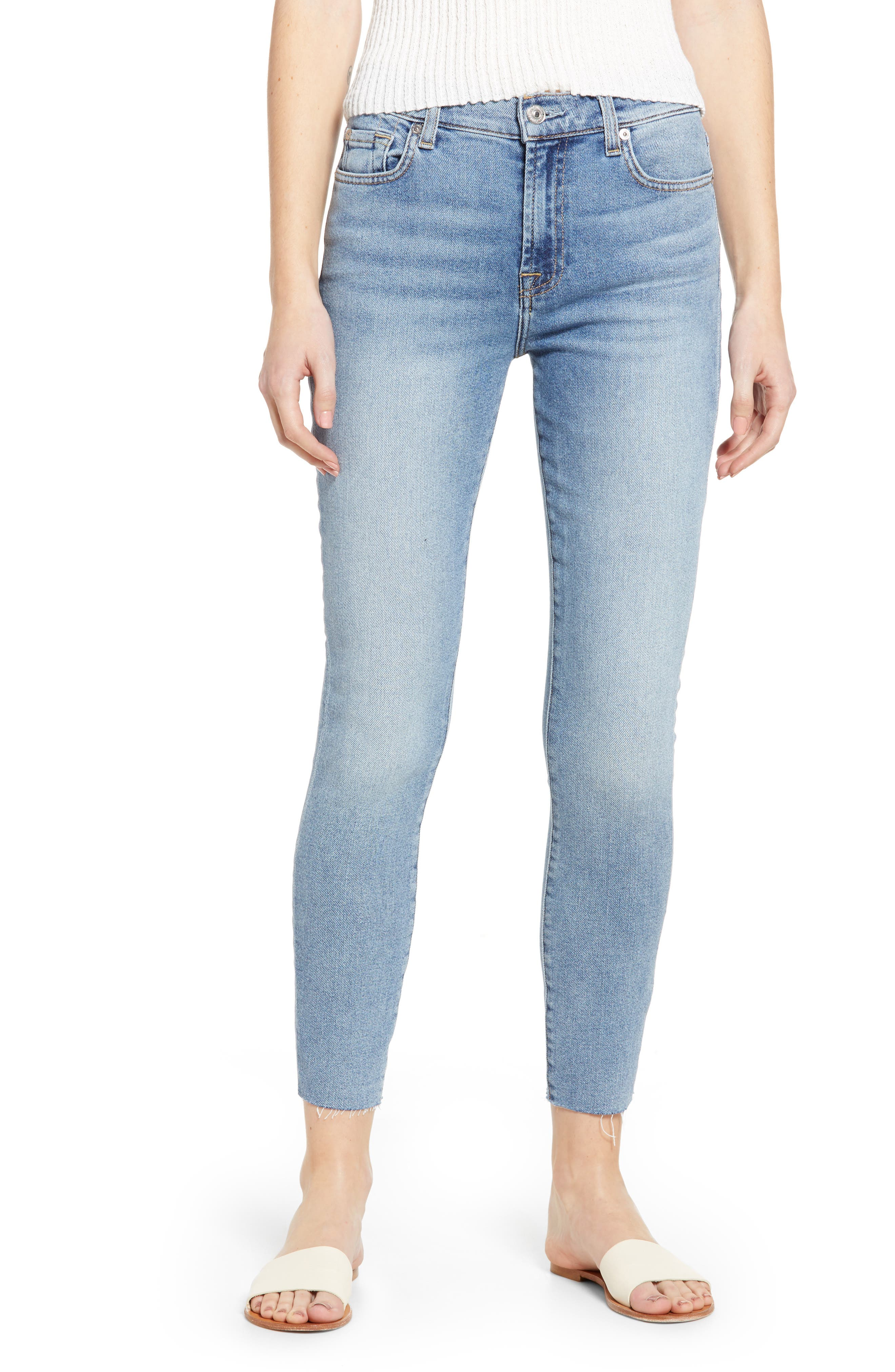 7 FOR ALL MANKIND<SUP>®</SUP>, High Waist Ankle Skinny Jeans, Main thumbnail 1, color, LUXE VINTAGE FLORA