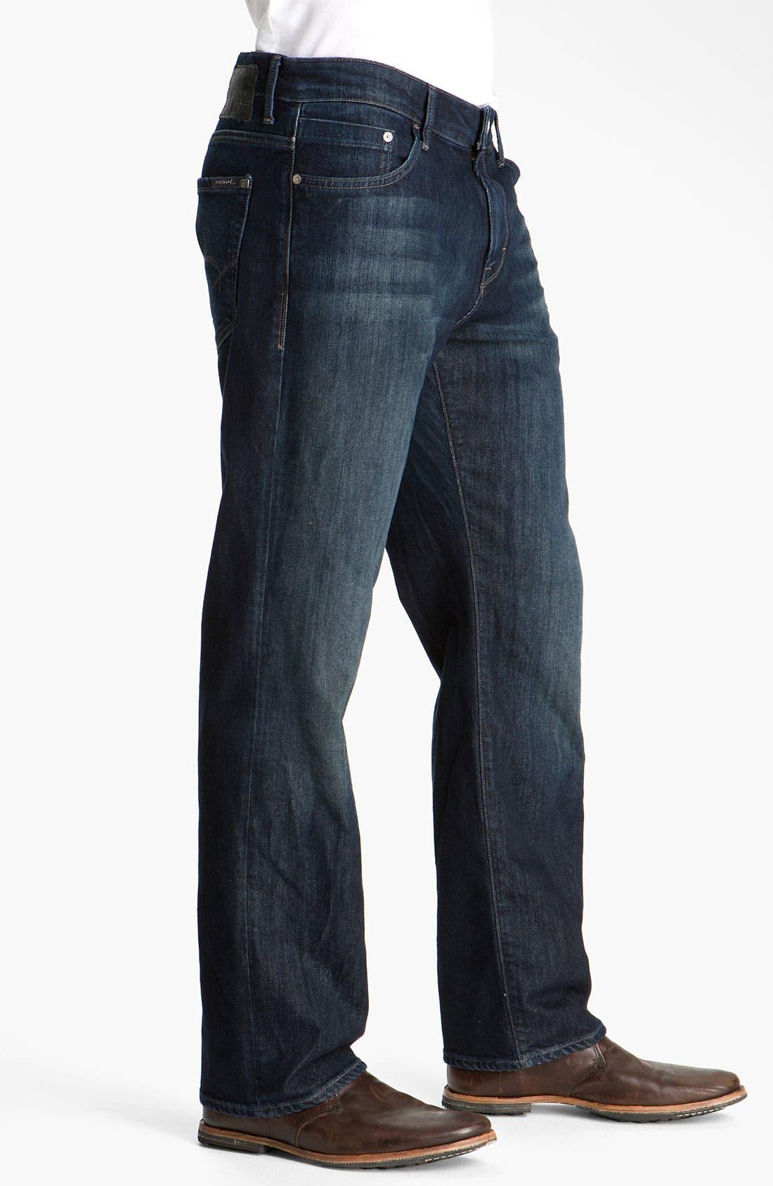 MAVI JEANS, 'Matt' Relaxed Fit Jeans, Alternate thumbnail 5, color, DEEP STANFORD COMFORT