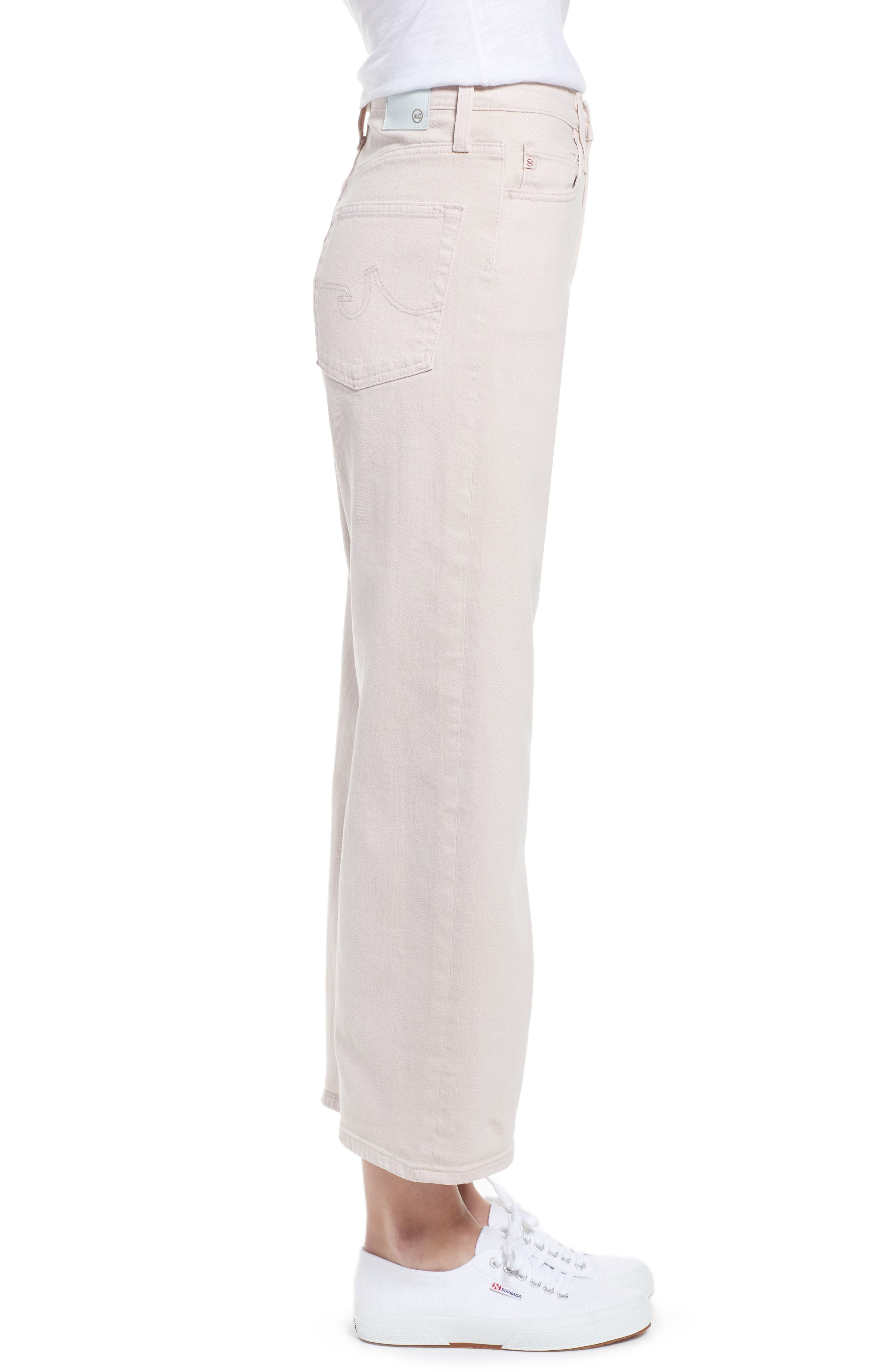 AG, Etta High Waist Crop Wide Leg Jeans, Alternate thumbnail 4, color, SULFUR PEAKED PINK