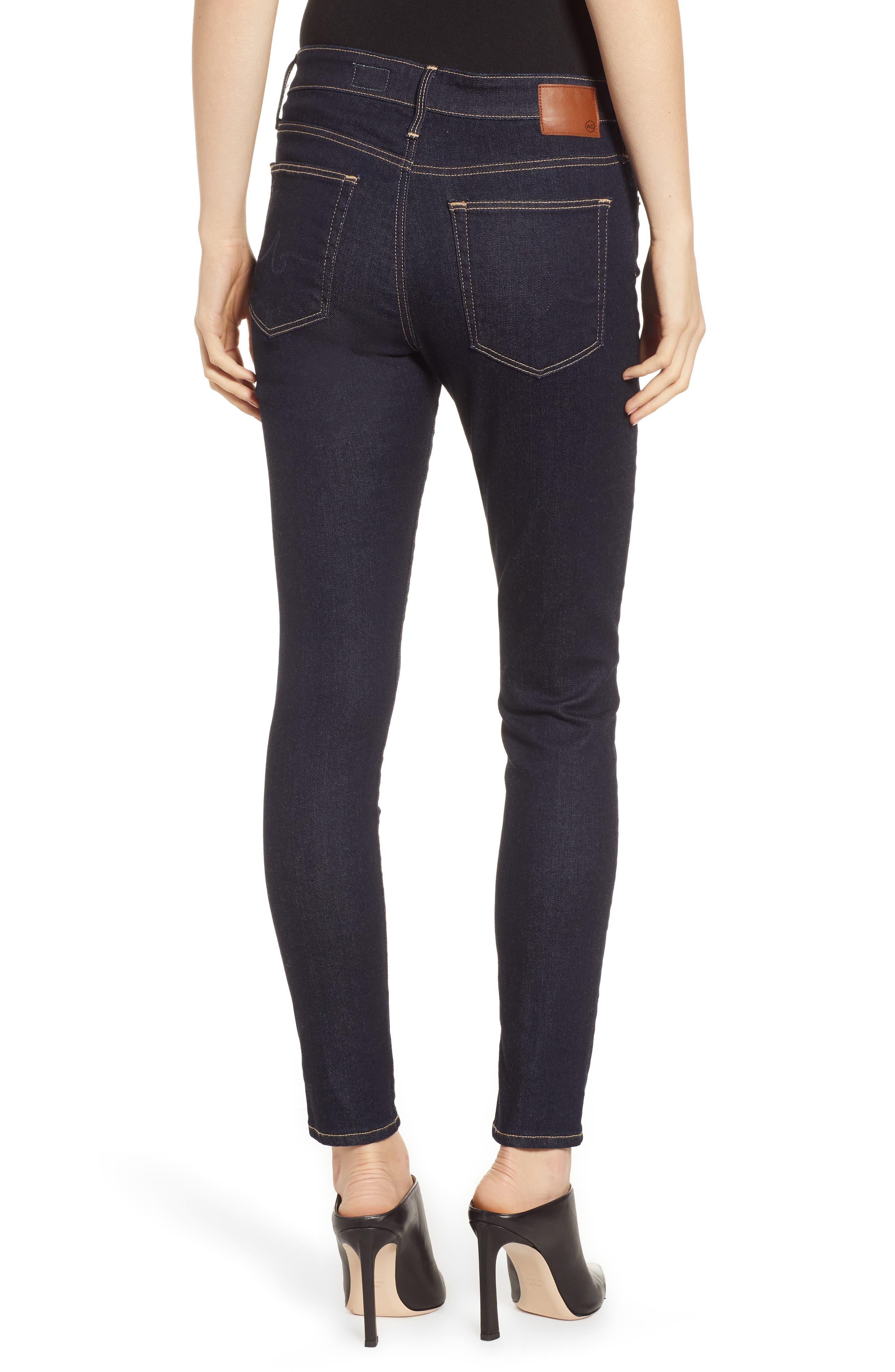 AG, The Farrah Ankle Skinny Jeans, Alternate thumbnail 2, color, INDIGO SPRING
