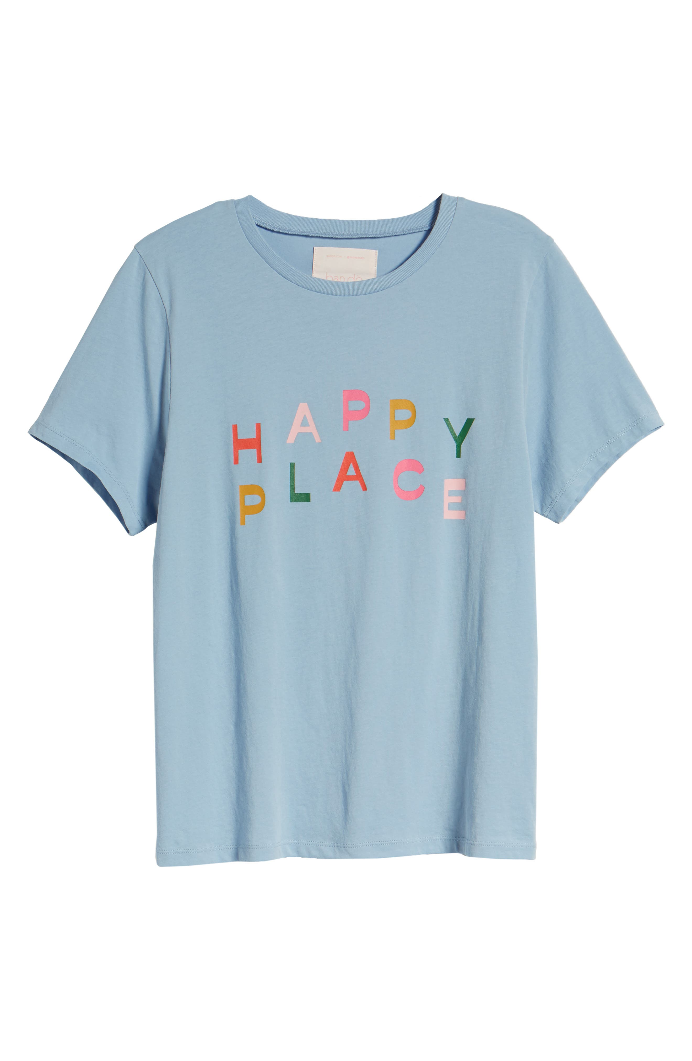 BAN.DO, Happy Place Classic Tee, Alternate thumbnail 6, color, LIGHT BLUE