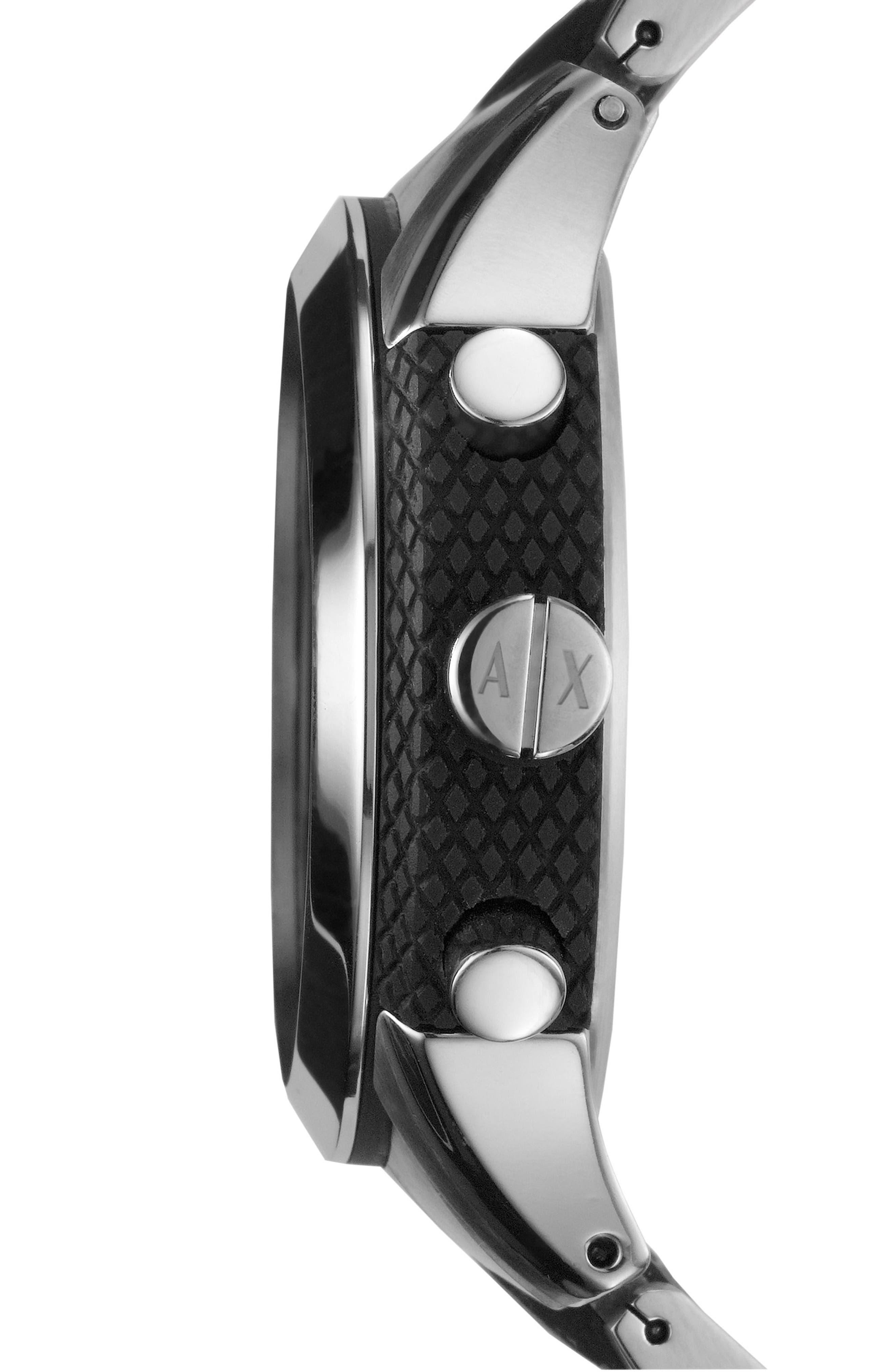 AX ARMANI EXCHANGE, Chronograph Bracelet Watch, 47mm, Alternate thumbnail 3, color, 040