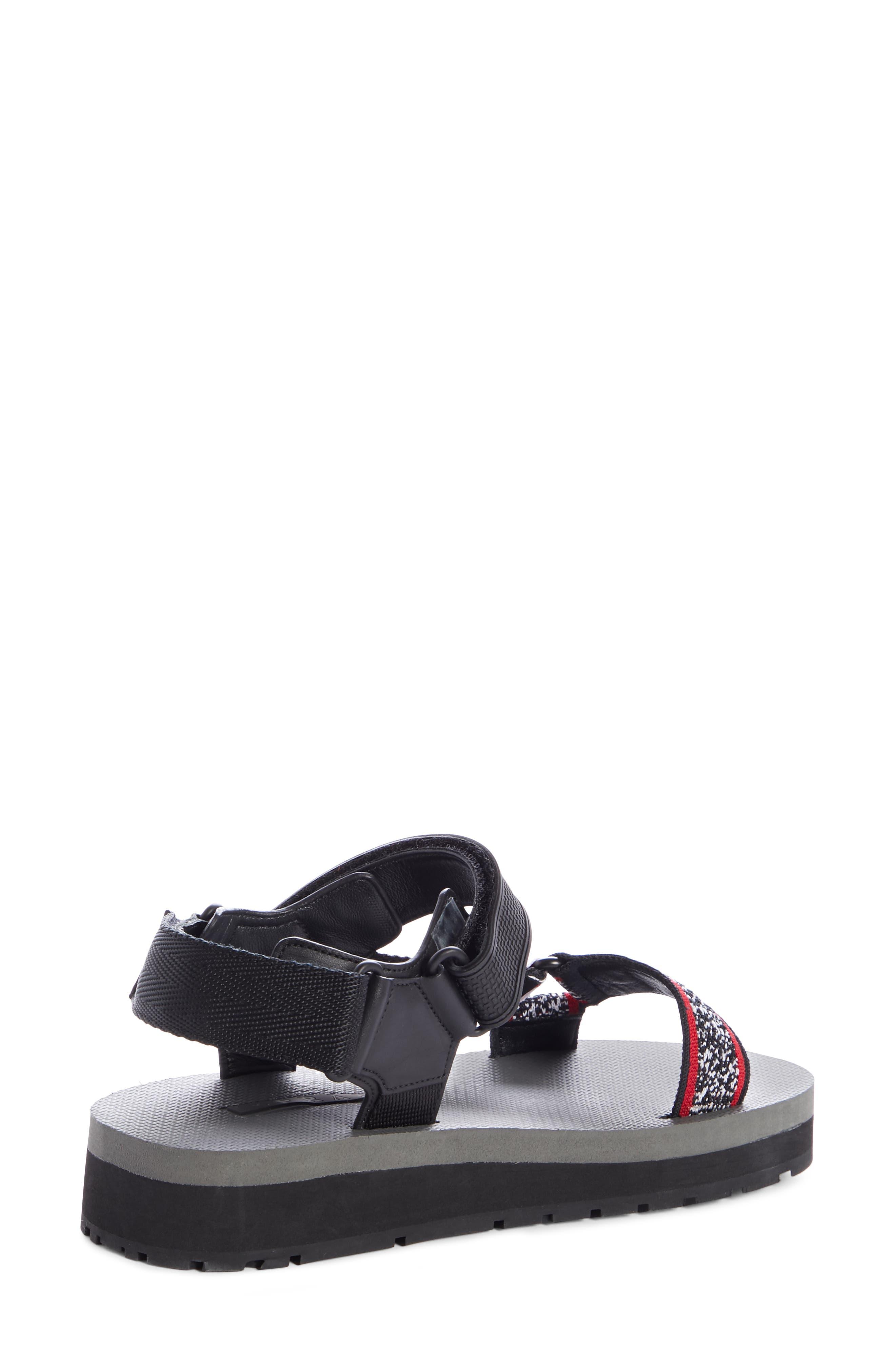 PRADA, Sport Sandal, Alternate thumbnail 2, color, BLACK/ RED