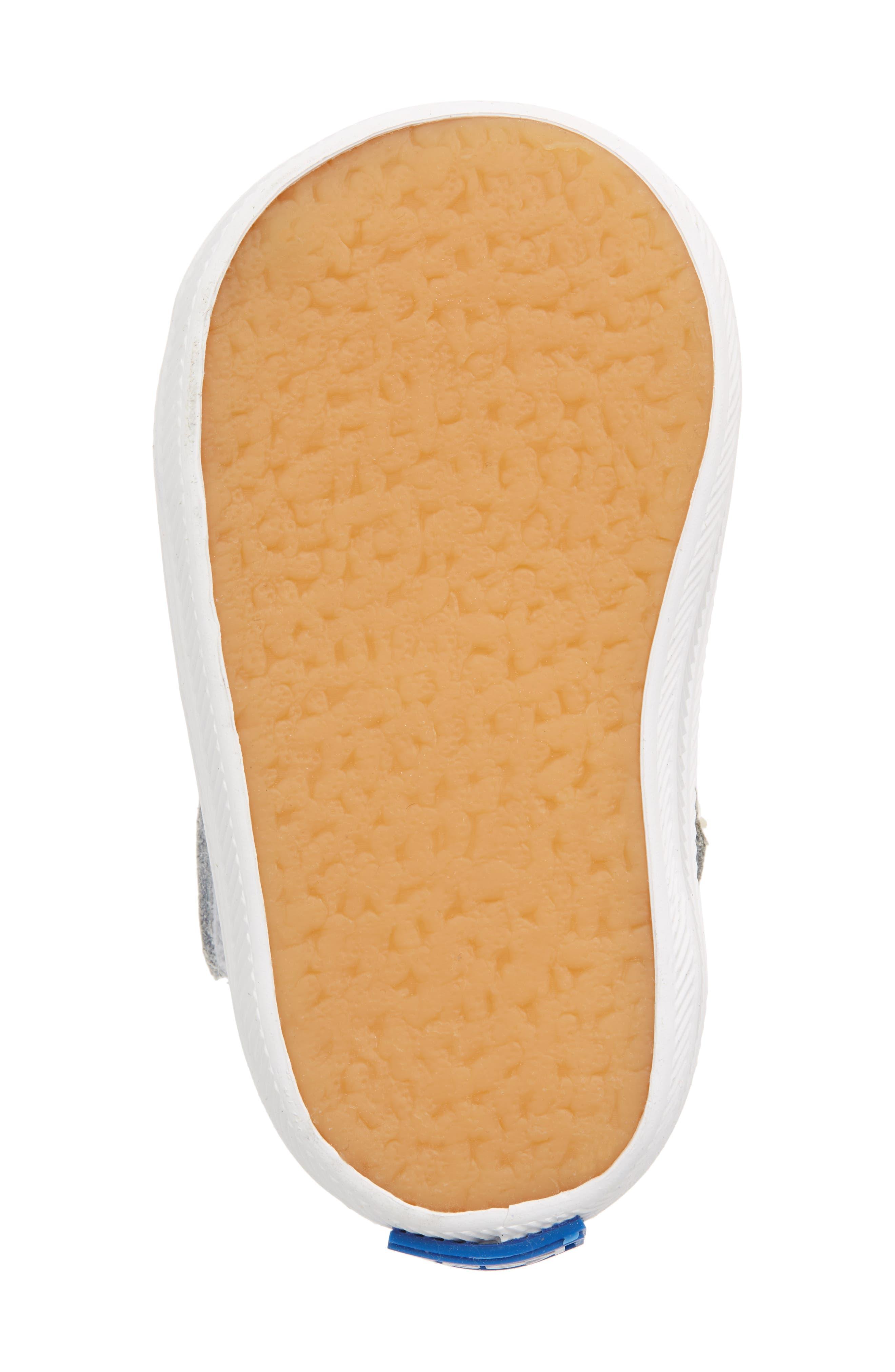KEDS<SUP>®</SUP>, 'Champion' T-Strap Shoe, Alternate thumbnail 6, color, WHITE LEATHER