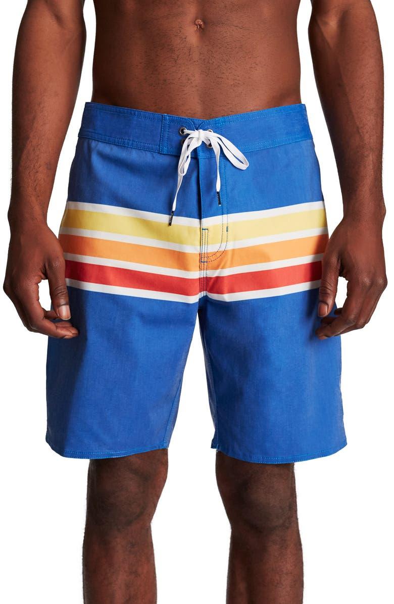 421476851aff7 BRIXTON Barge Stripe Swim Trunks, Main, color, 400