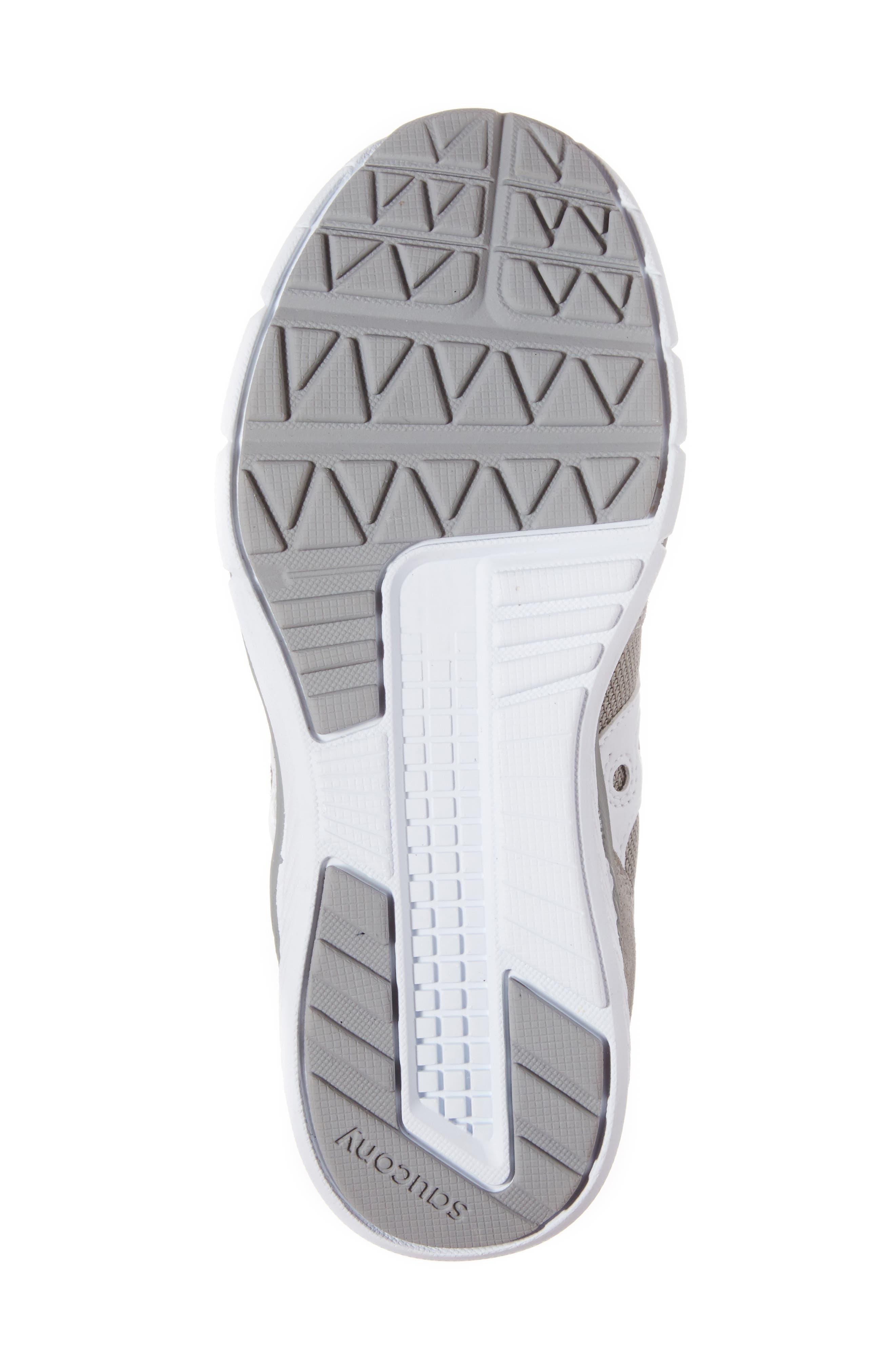 SAUCONY, Jazz Lite Sneaker, Alternate thumbnail 6, color, GREY/ WHITE