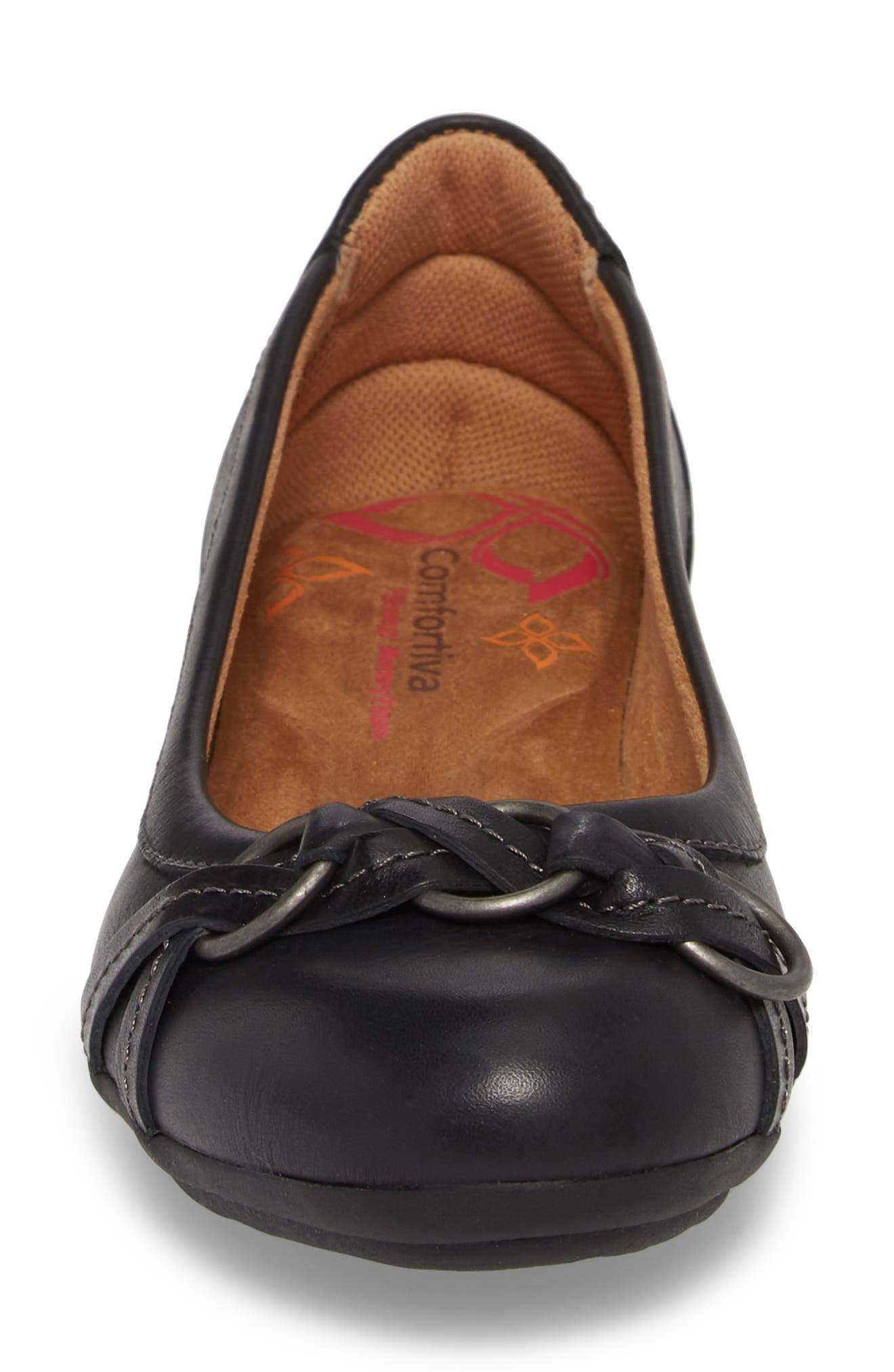 COMFORTIVA, Malloree Flat, Alternate thumbnail 4, color, BLACK