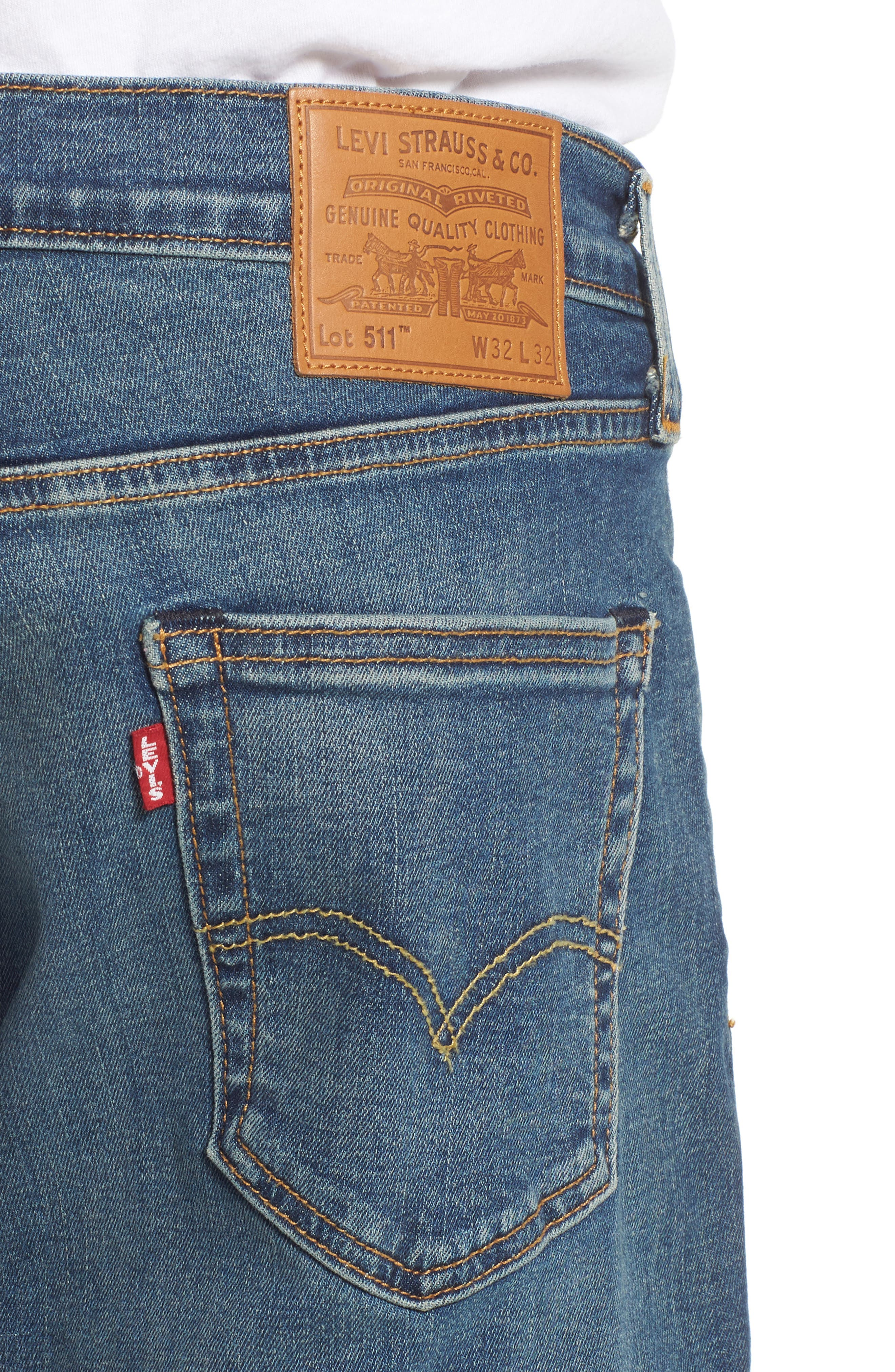 LEVI'S<SUP>®</SUP>, 511<sup>™</sup> Slim Fit Jeans, Alternate thumbnail 5, color, 422