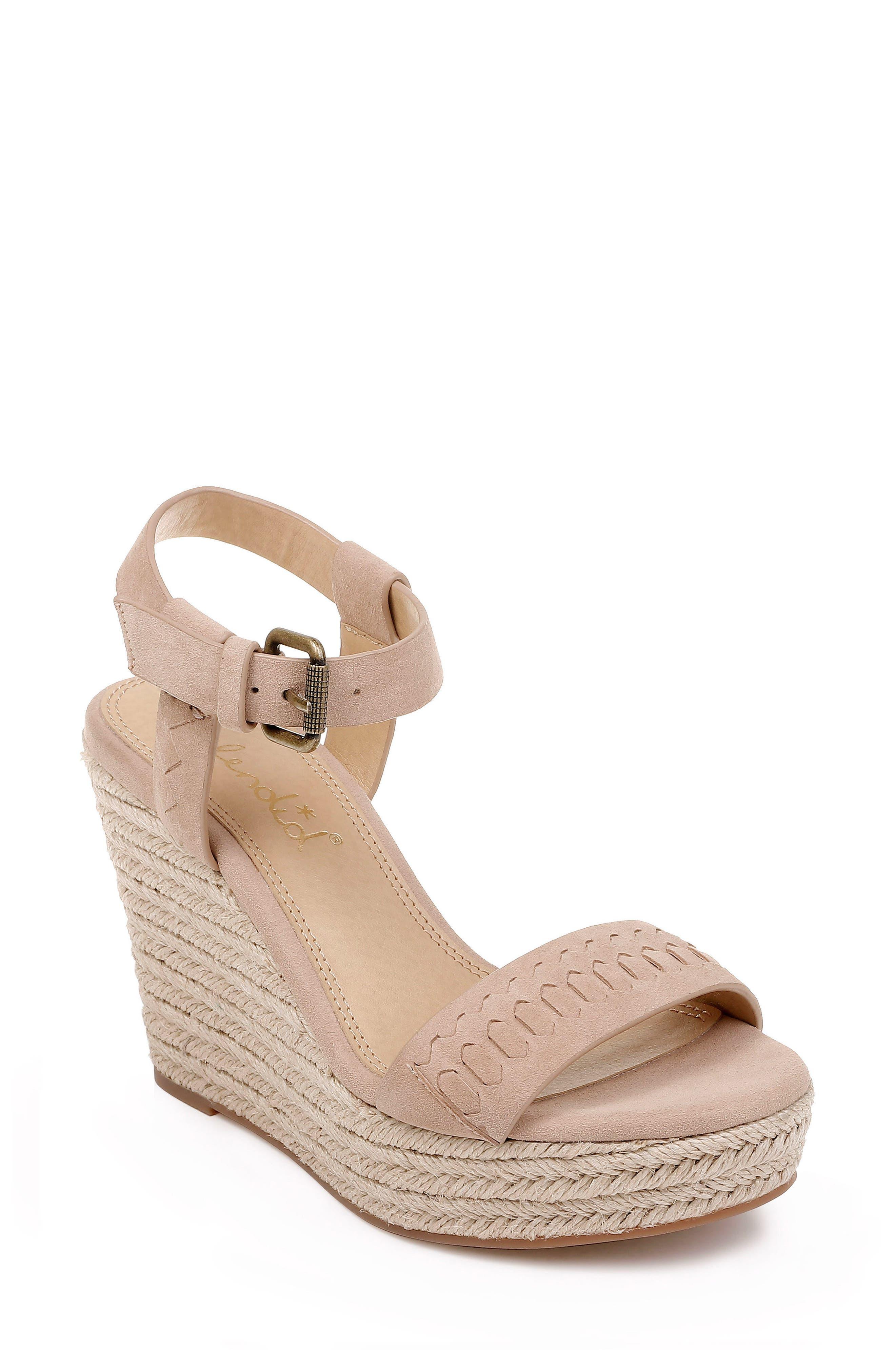 SPLENDID Shayla Woven Wedge Sandal, Main, color, WOOD SUEDE
