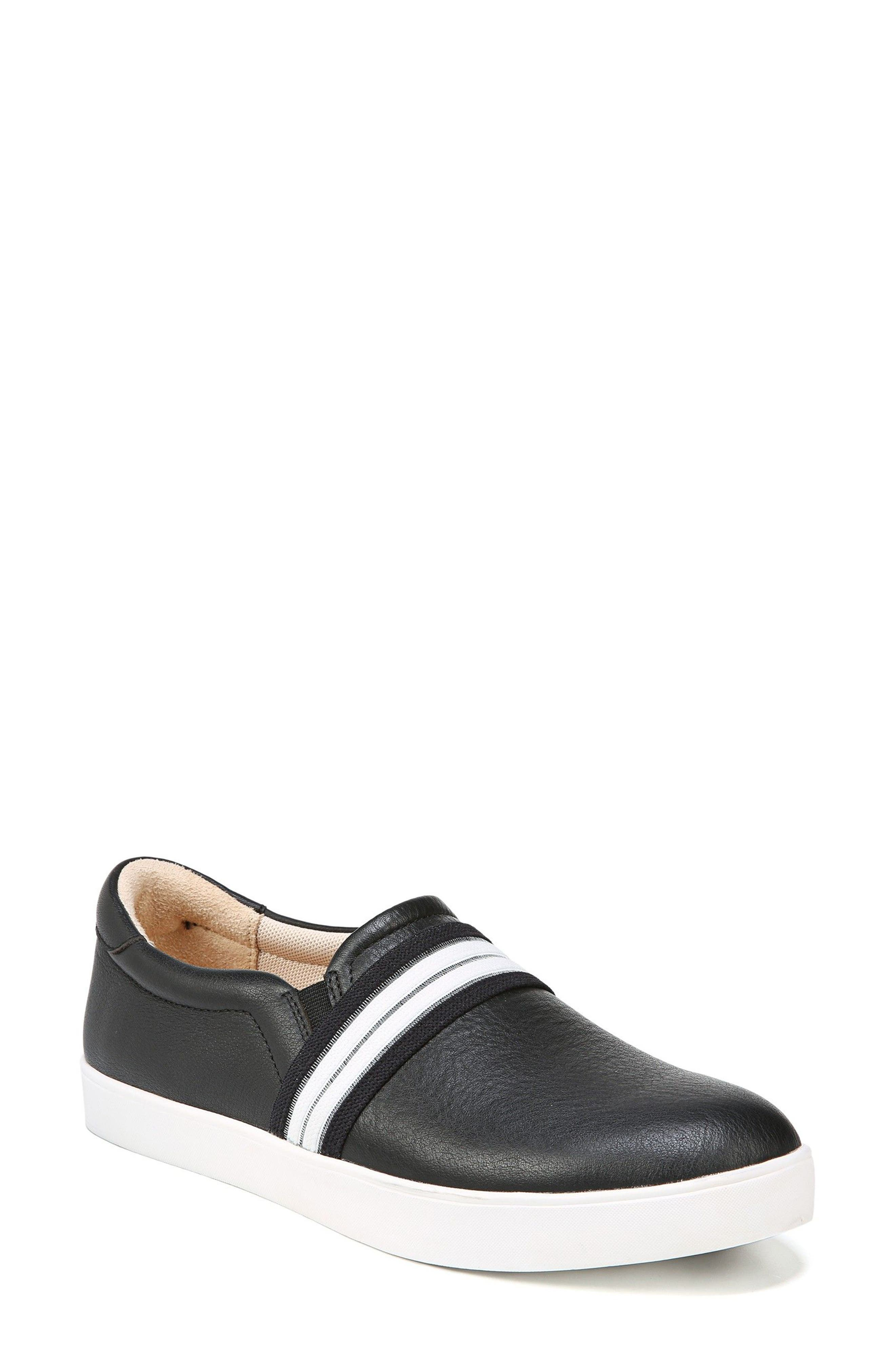DR. SCHOLL'S Scout Slip-On Sneaker, Main, color, BLACK LEATHER 2