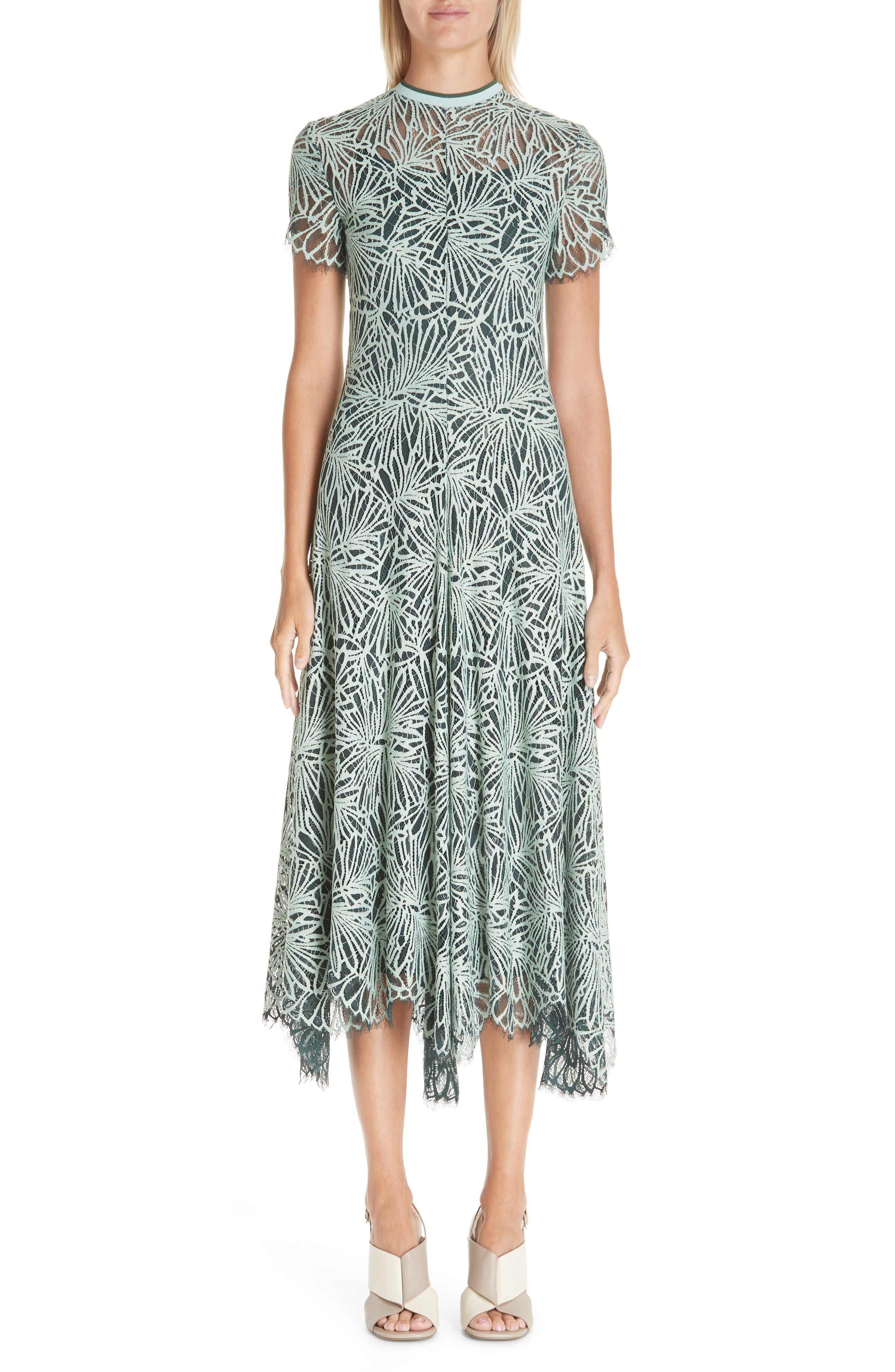 Proenza Schouler Stretch Lace Dress, Green