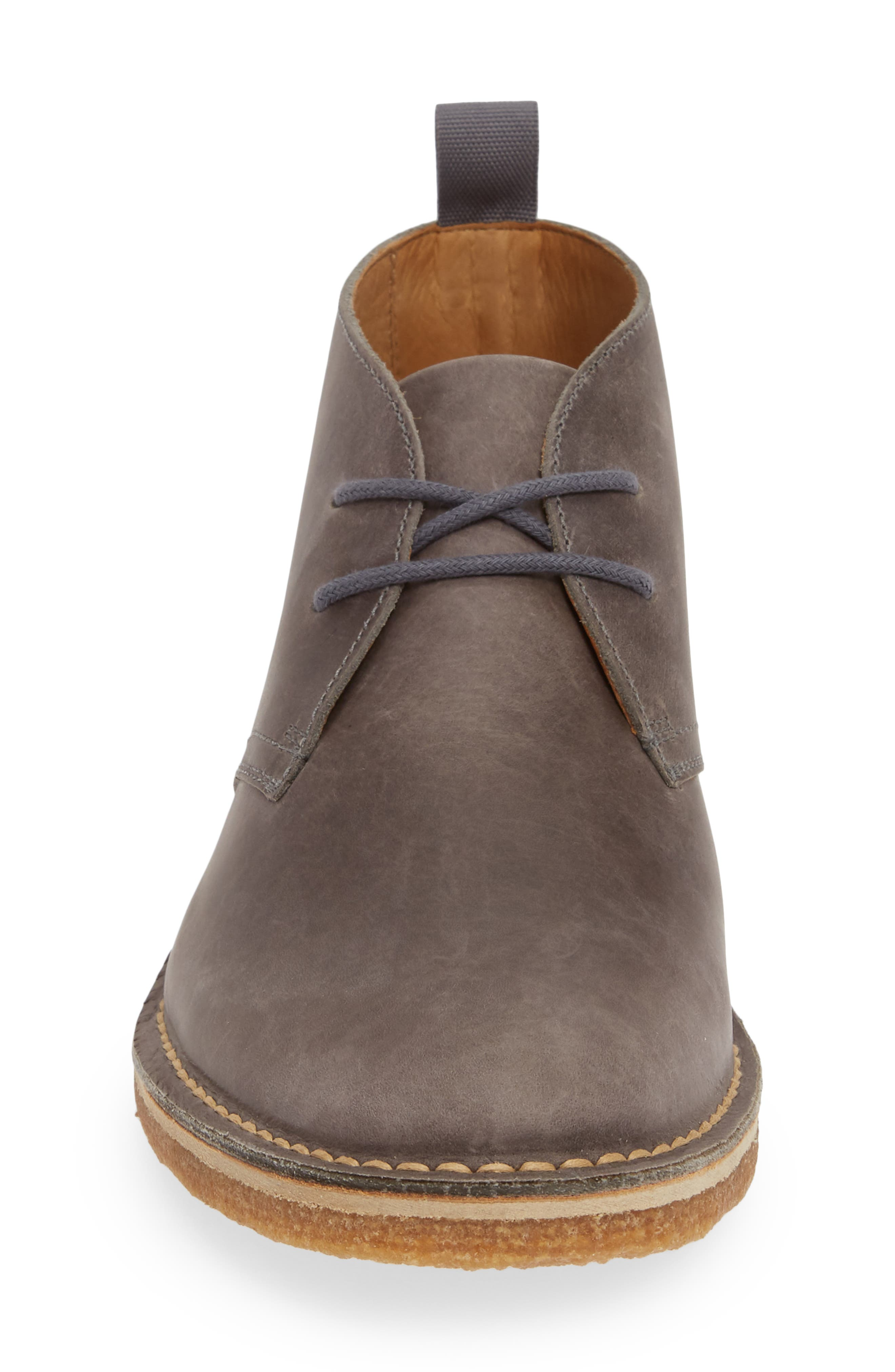 1901, Hudson Chukka Boot, Alternate thumbnail 4, color, GREY LEATHER