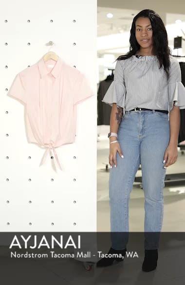 Tie Front Poplin Shirt, sales video thumbnail