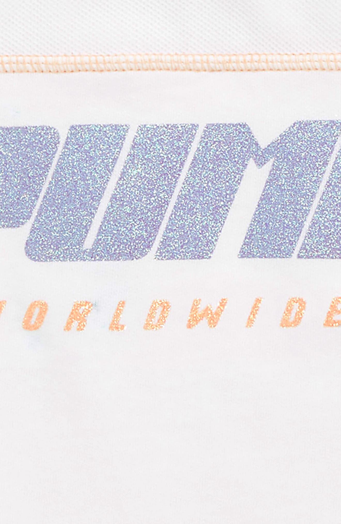 PUMA, Glitter Logo Top, Alternate thumbnail 2, color, PUMA WHITE