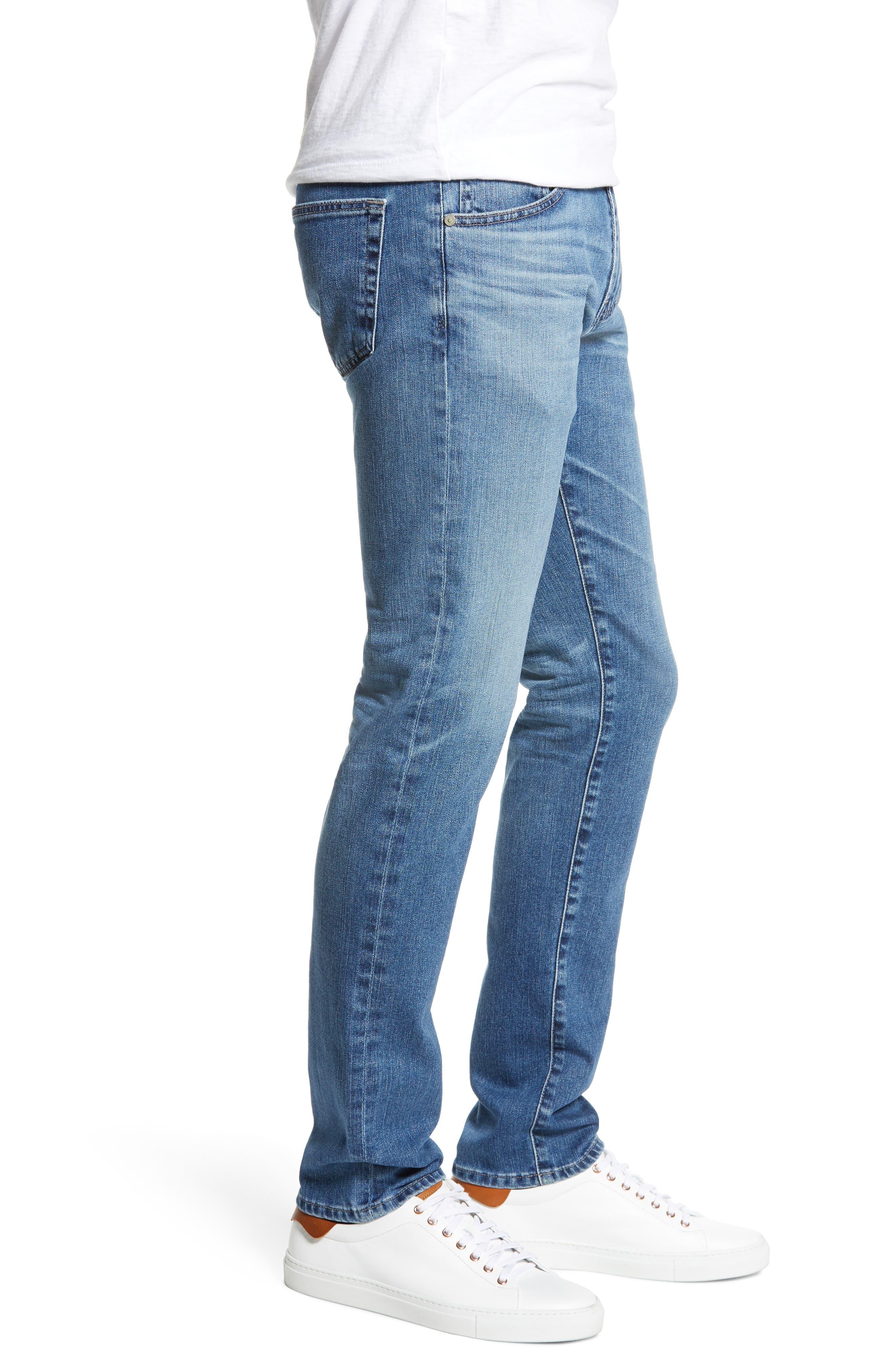 AG, Tellis Slim Fit Jeans, Alternate thumbnail 4, color, 16 YEARS EAVES