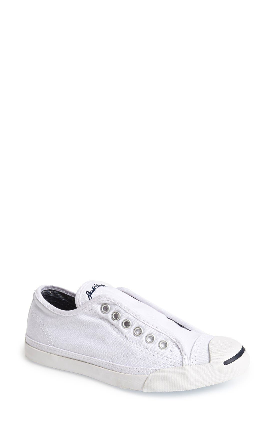CONVERSE, Jack Purcell Low Top Sneaker, Main thumbnail 1, color, OPTIC WHITE