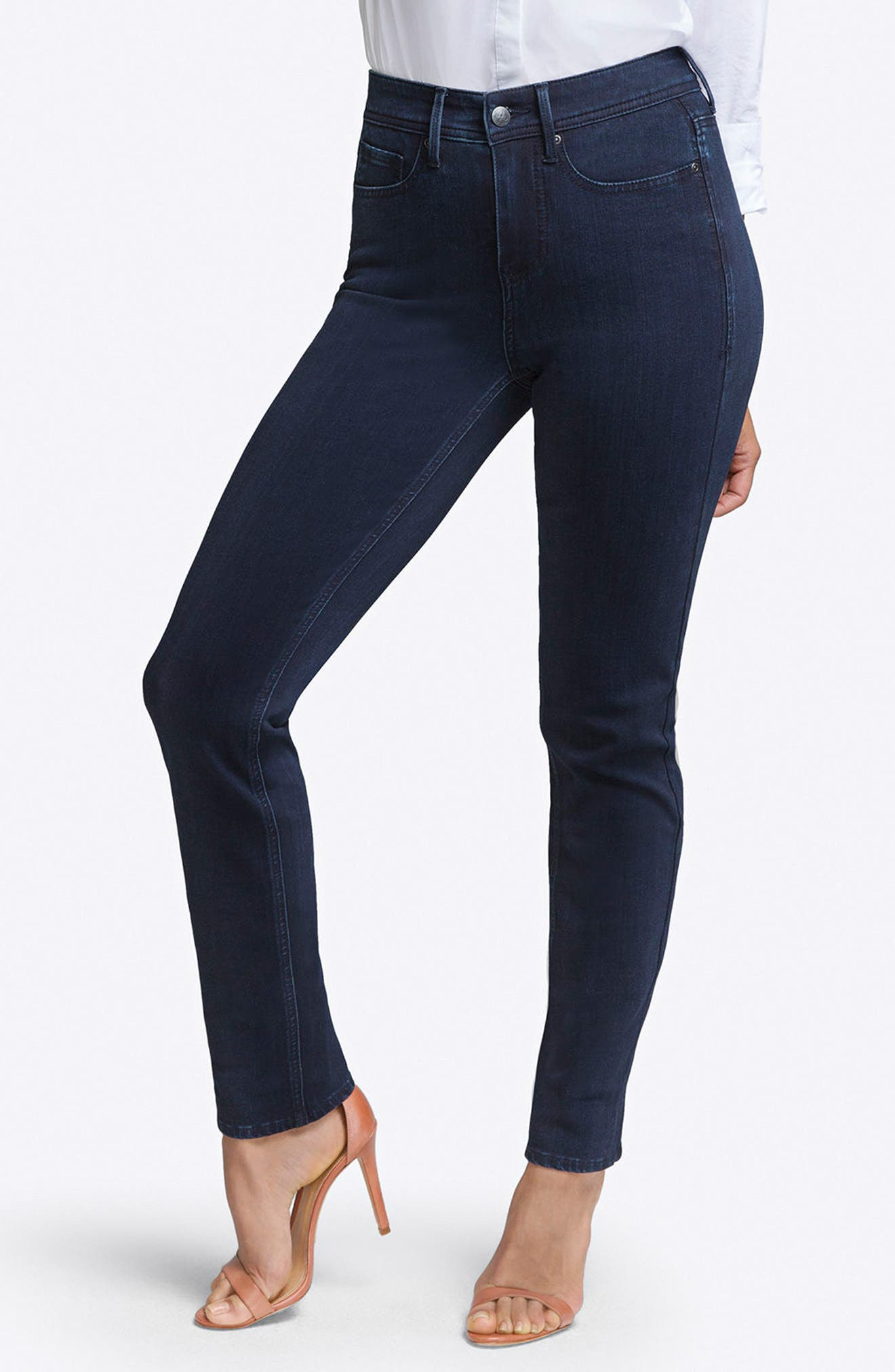 CURVES 360 BY NYDJ, Slim Straight Leg Jeans, Main thumbnail 1, color, BOWEN