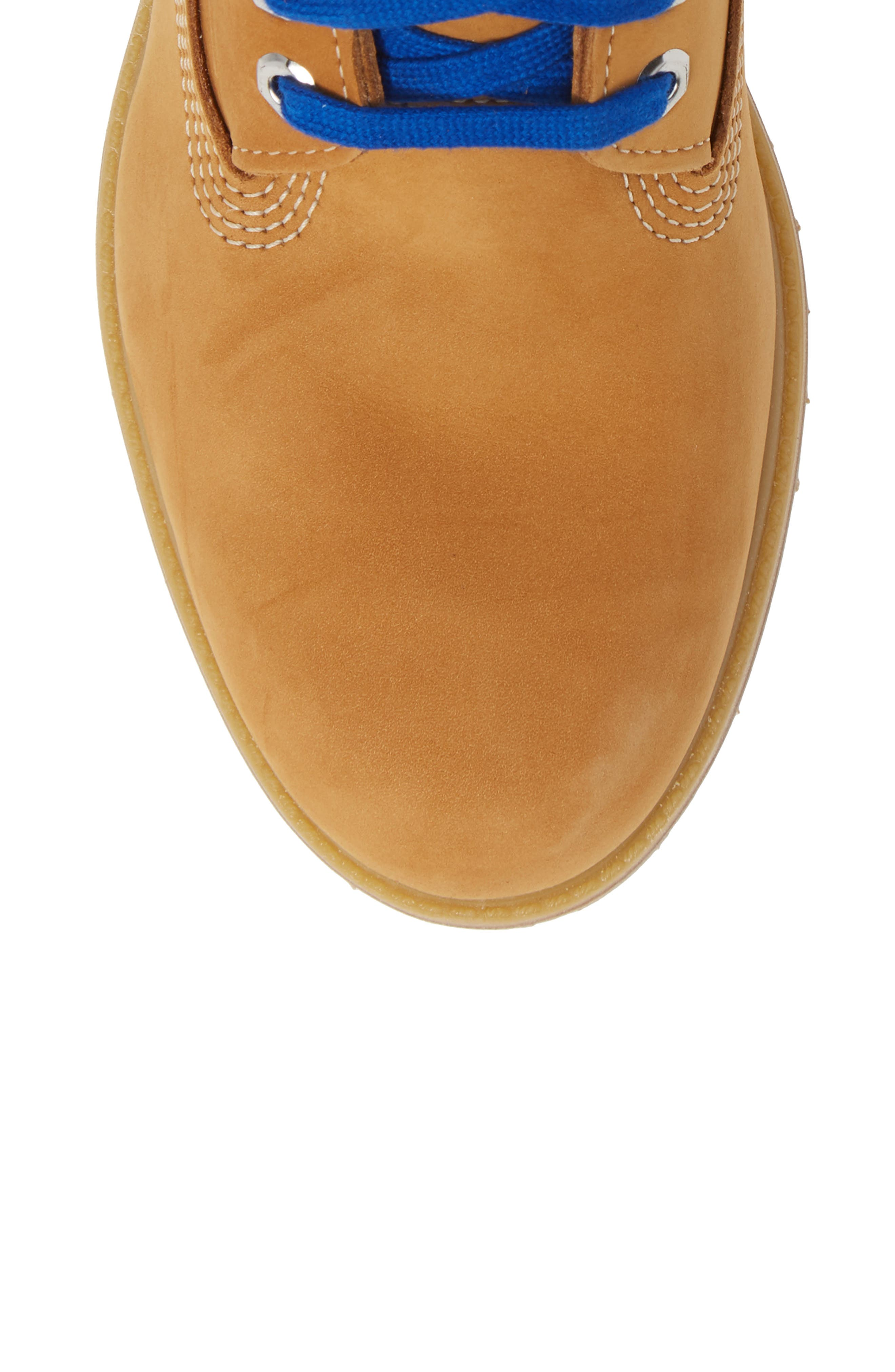 TIMBERLAND, Premium NBA Collection Boot, Alternate thumbnail 5, color, WHEAT NUBUCK/ GOLDEN STATE