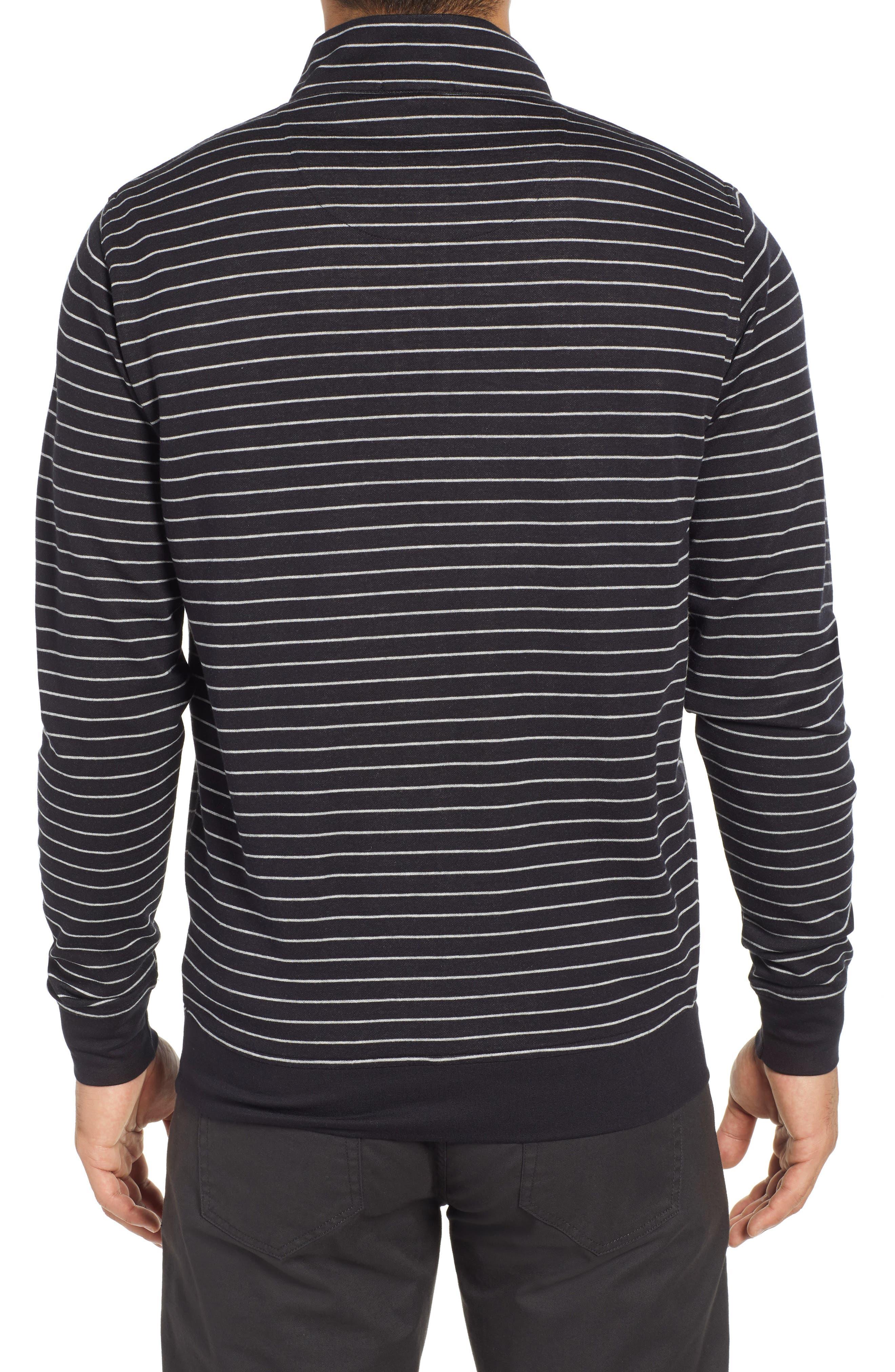 PETER MILLAR, Classic Fit Pullover, Alternate thumbnail 2, color, BLACK