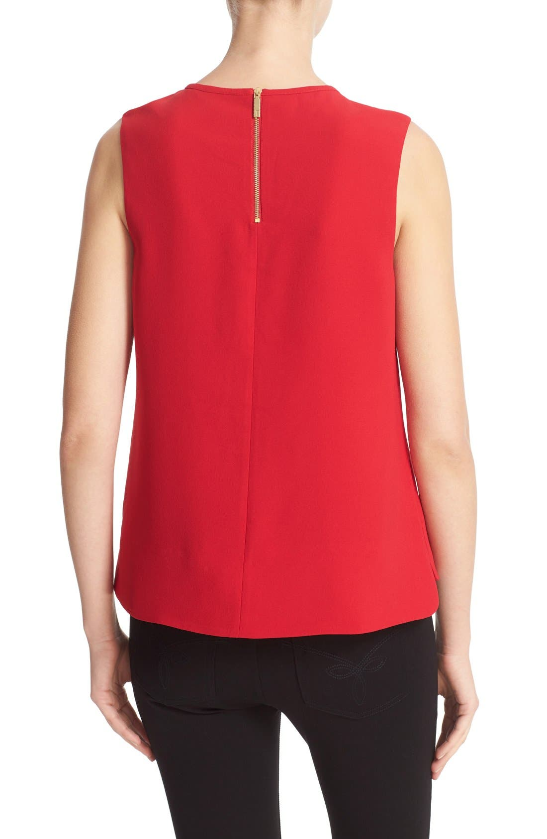 TED BAKER LONDON, Natalle Bow Detail Crepe Top, Alternate thumbnail 8, color, 604