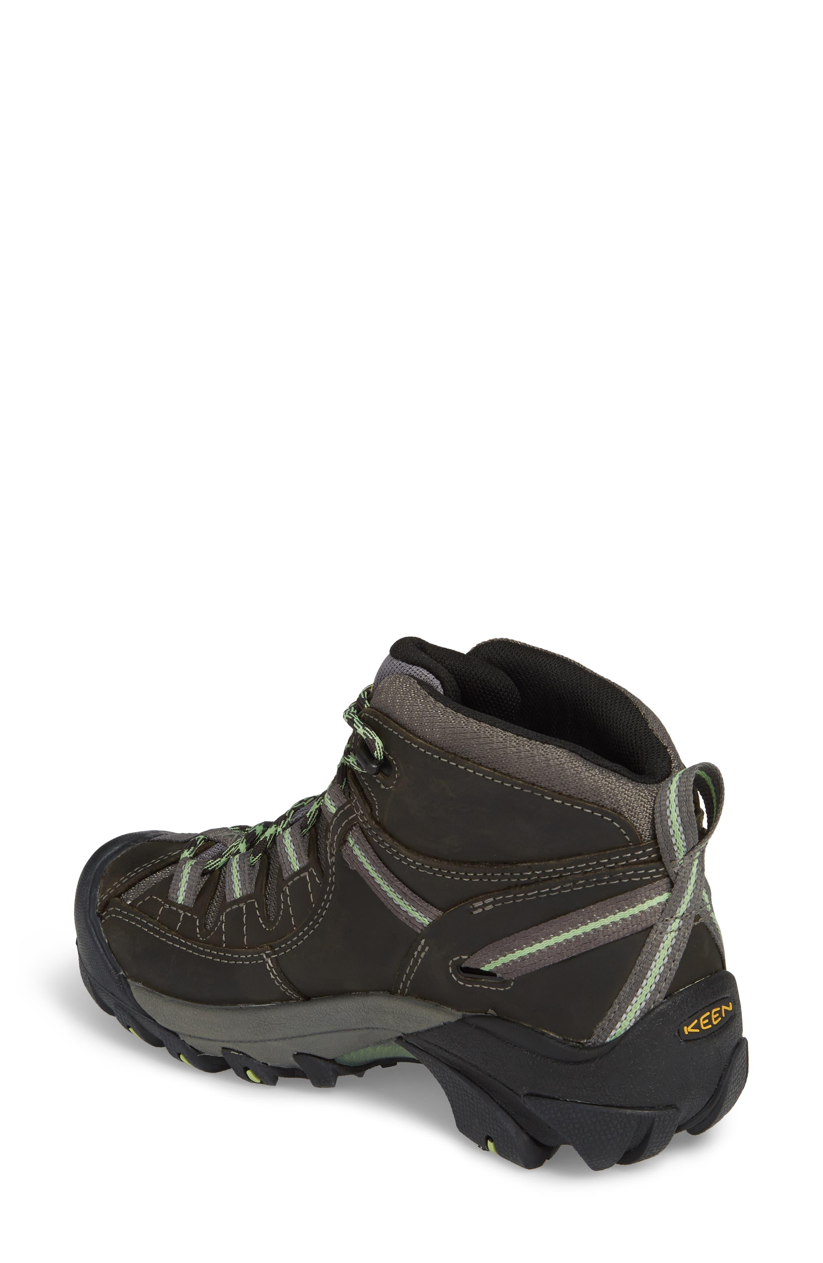 KEEN, Targhee II Mid Waterproof Hiking Boot, Alternate thumbnail 2, color, RAVEN/ OPALINE