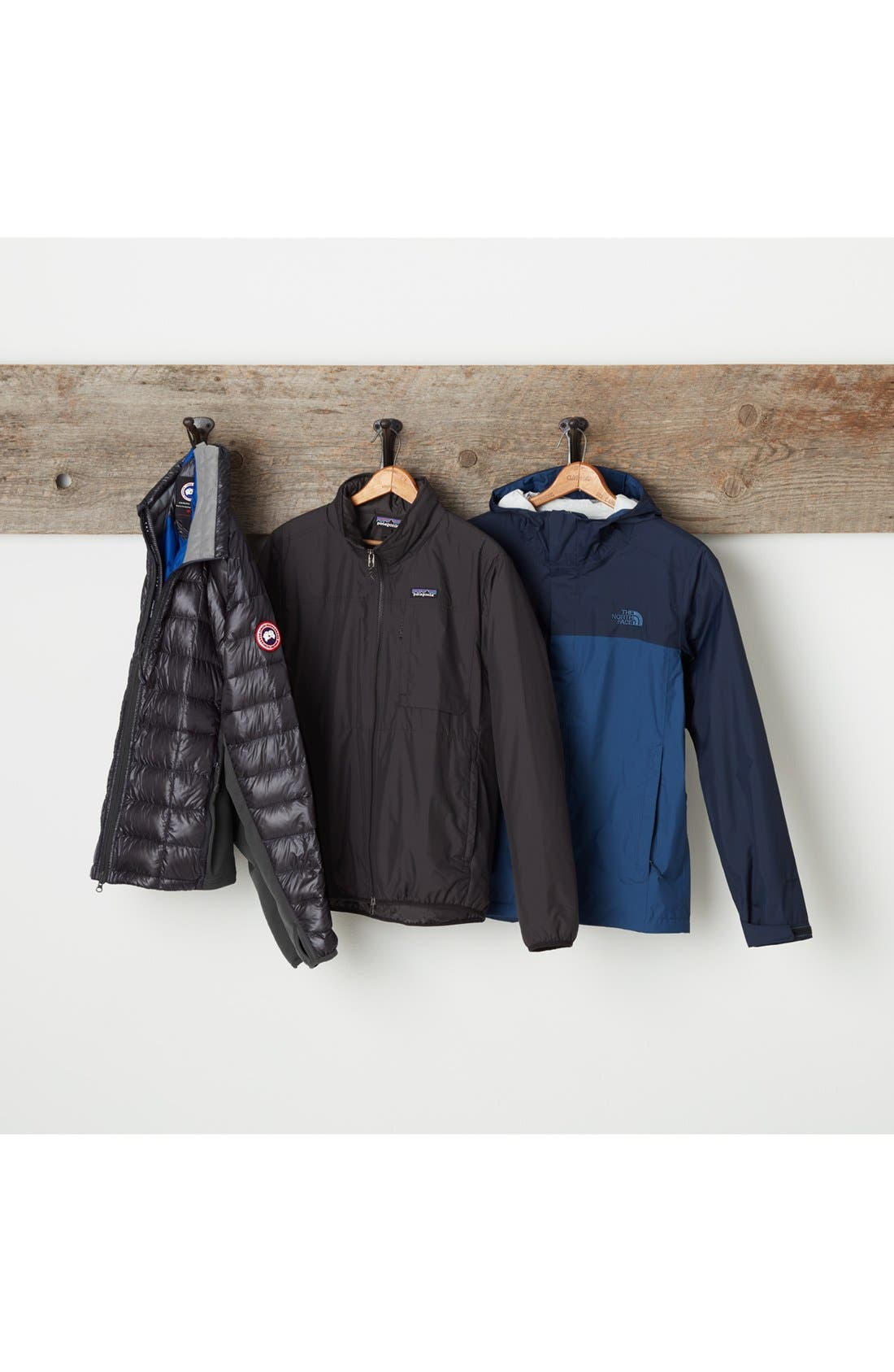 THE NORTH FACE, Venture II Raincoat, Alternate thumbnail 8, color, FIERY RED/ ASPHALT GREY