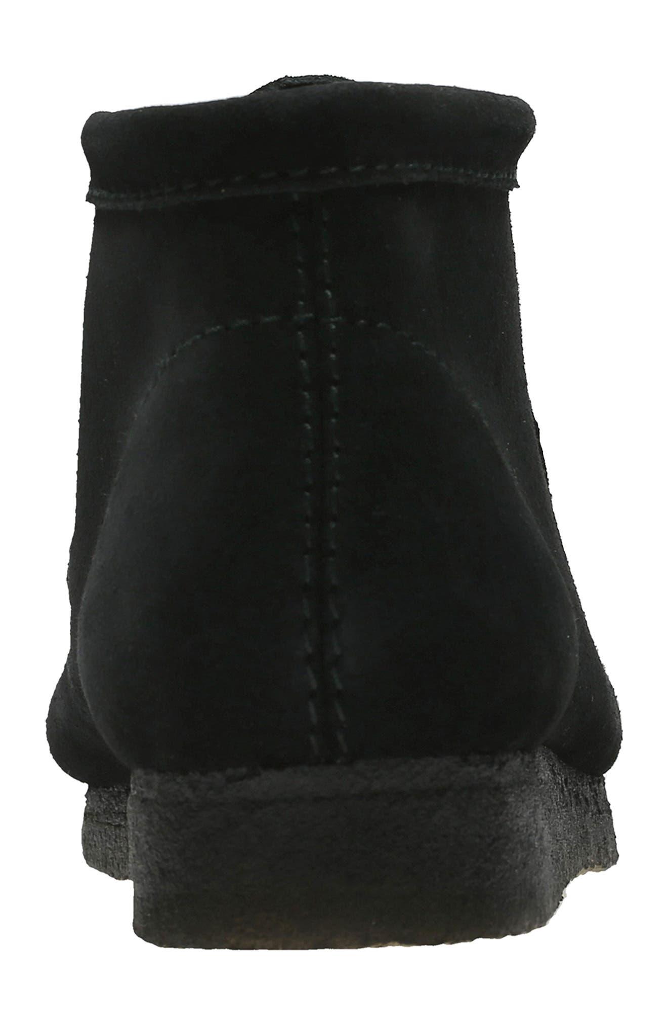 CLARKS<SUP>®</SUP>, Originals Wallabee Boot, Alternate thumbnail 6, color, BLACK SUEDE