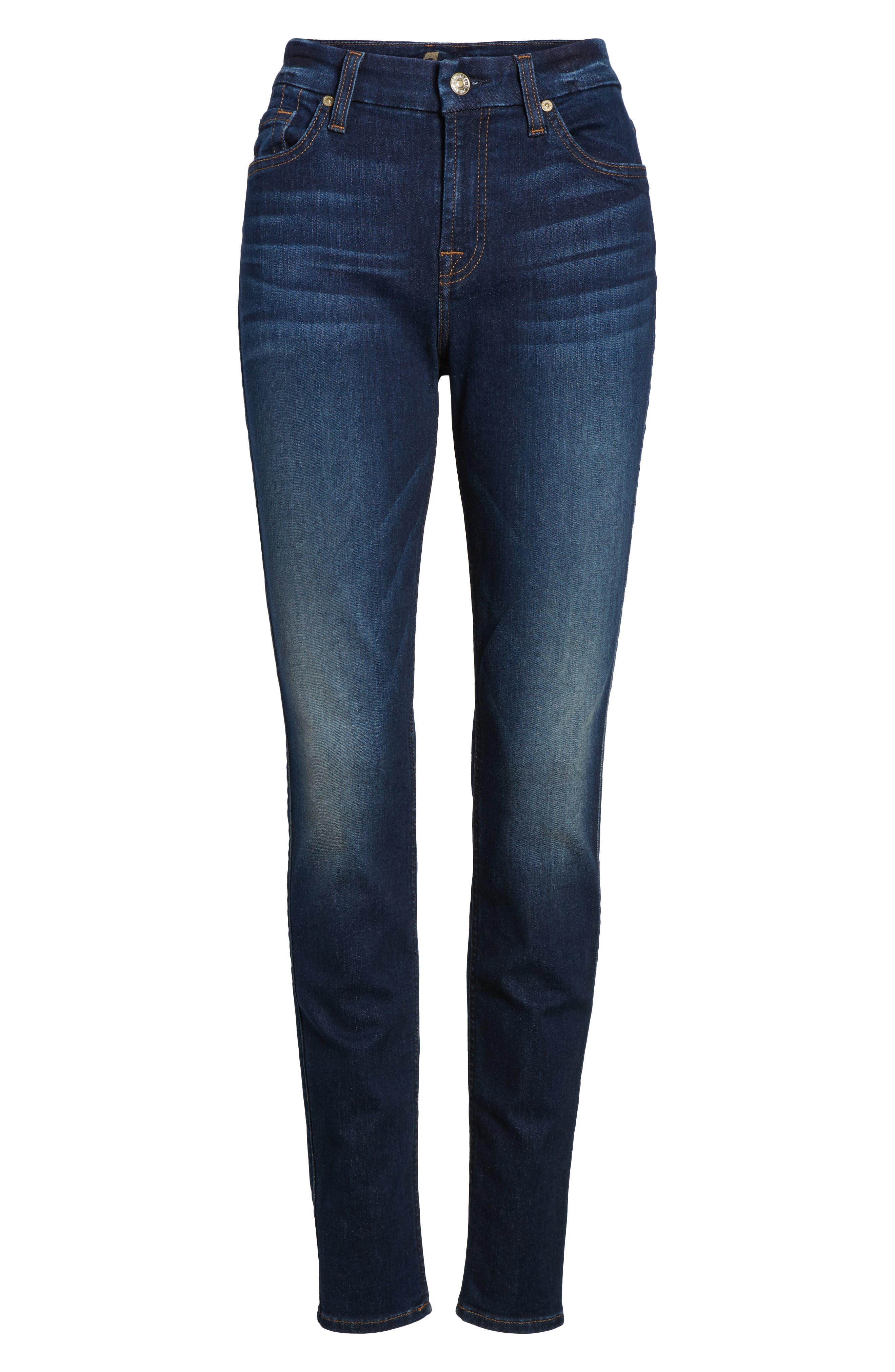 7 FOR ALL MANKIND<SUP>®</SUP>, b(air) High Waist Skinny Jeans, Alternate thumbnail 7, color, MORENO