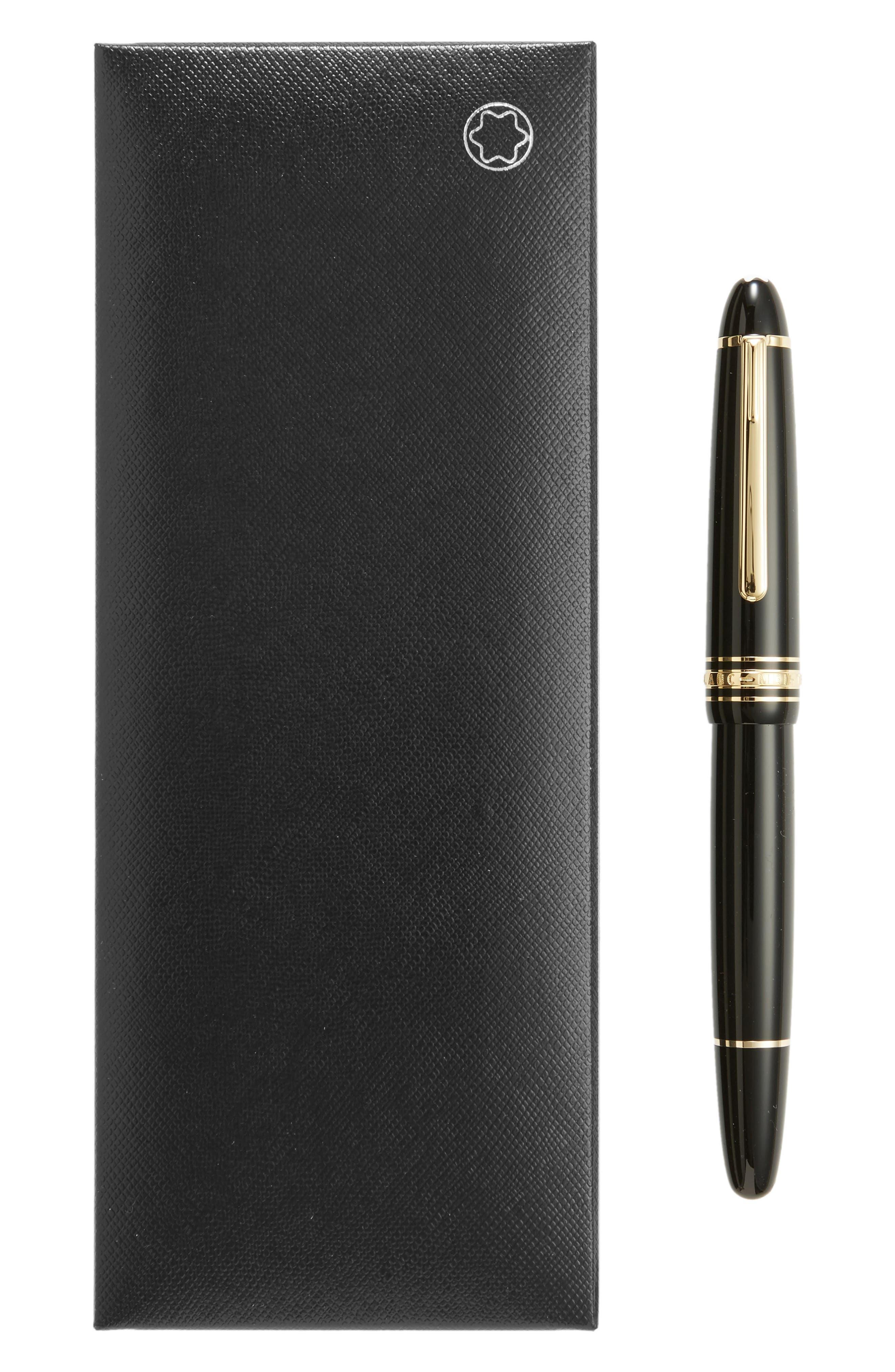 MONTBLANC, Meisterstück Gold Coated LeGrand Rollerball Pen, Alternate thumbnail 2, color, BLACK