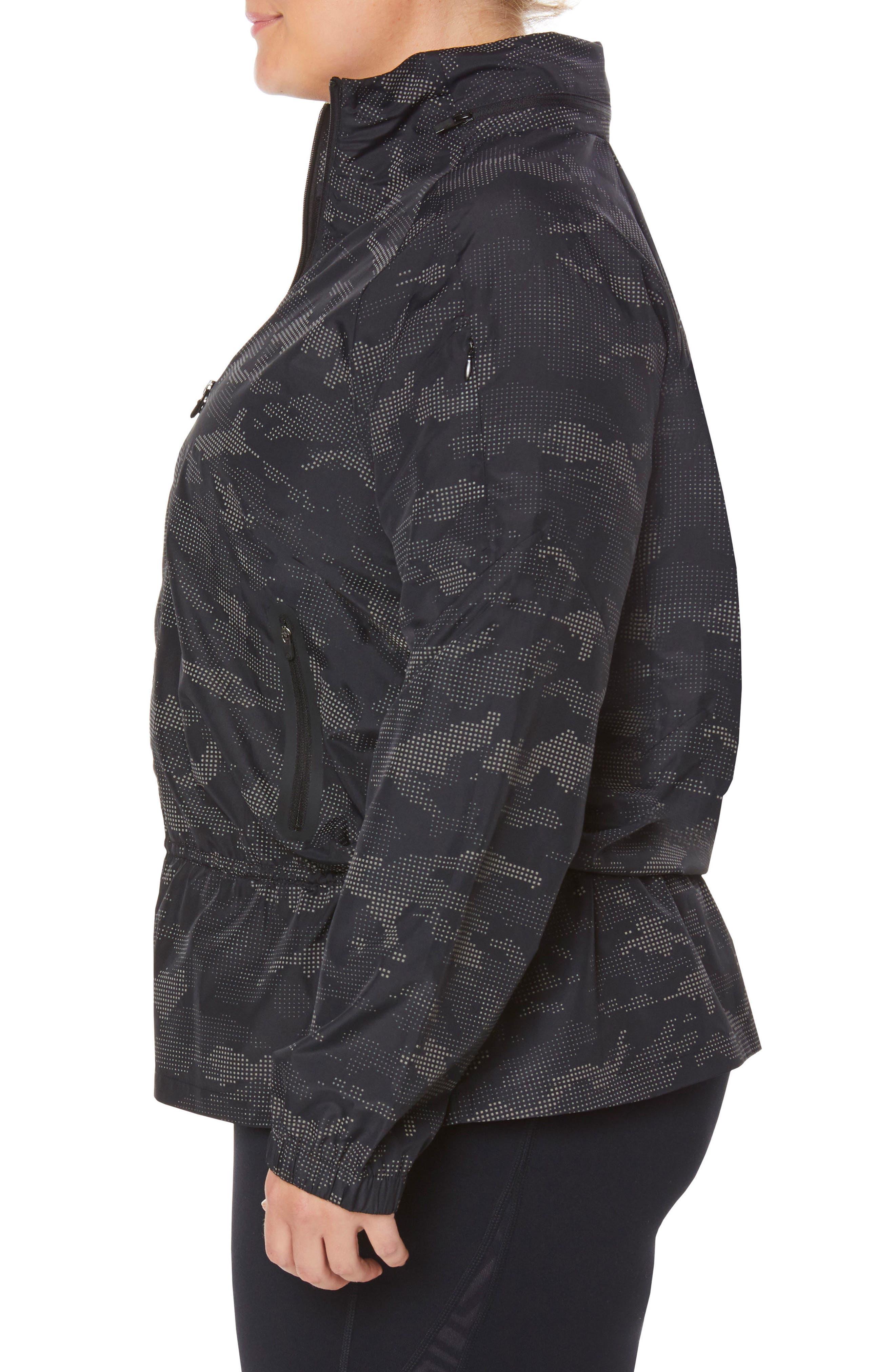 SHAPE ACTIVEWEAR, Ghost Windbreaker Jacket, Alternate thumbnail 4, color, 001