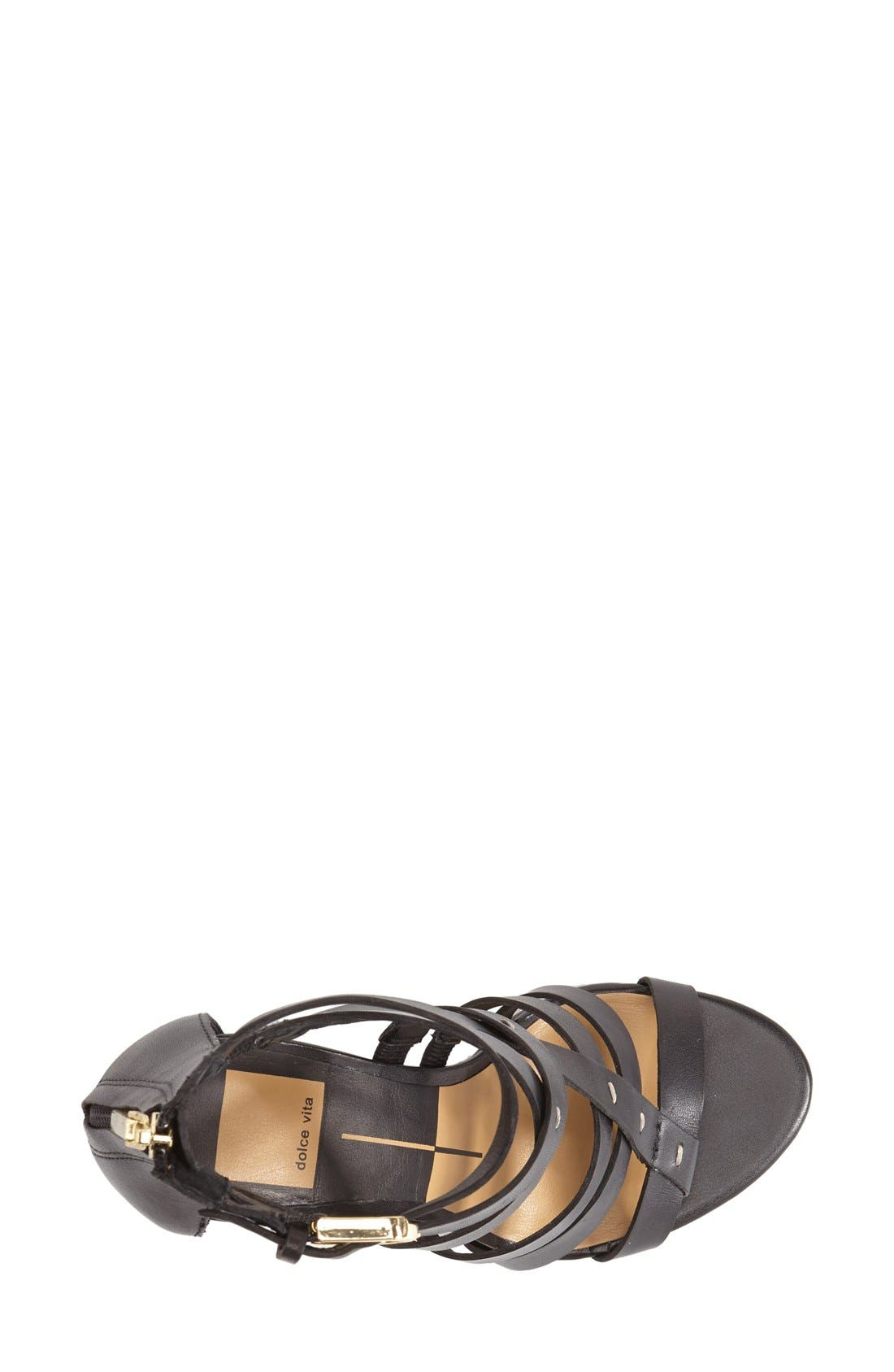 DOLCE VITA, 'Nolin' Leather Sandal, Alternate thumbnail 2, color, 001