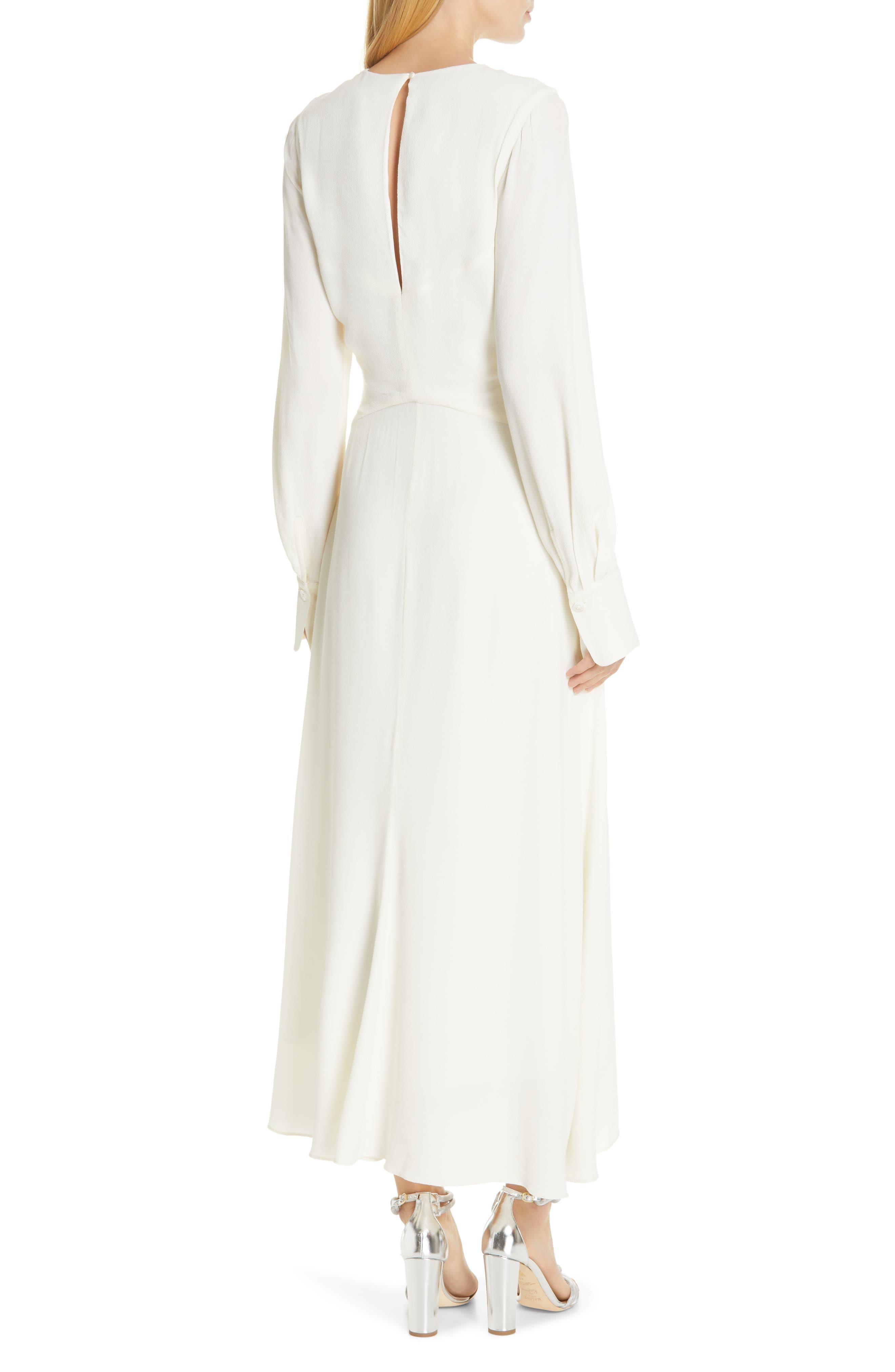 EQUIPMENT, Faun Twist Front Dress, Alternate thumbnail 2, color, NATURE WHITE