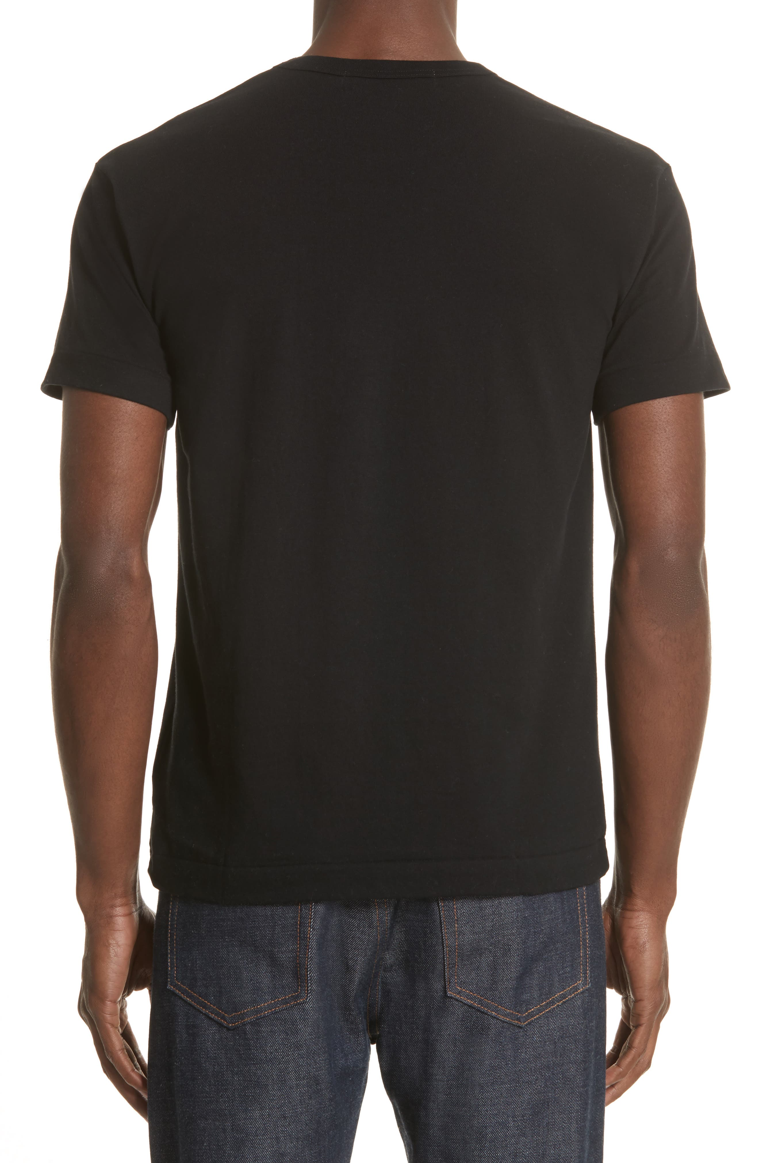COMME DES GARÇONS PLAY, X-Ray Heart Logo T-Shirt, Alternate thumbnail 2, color, BLACK 1