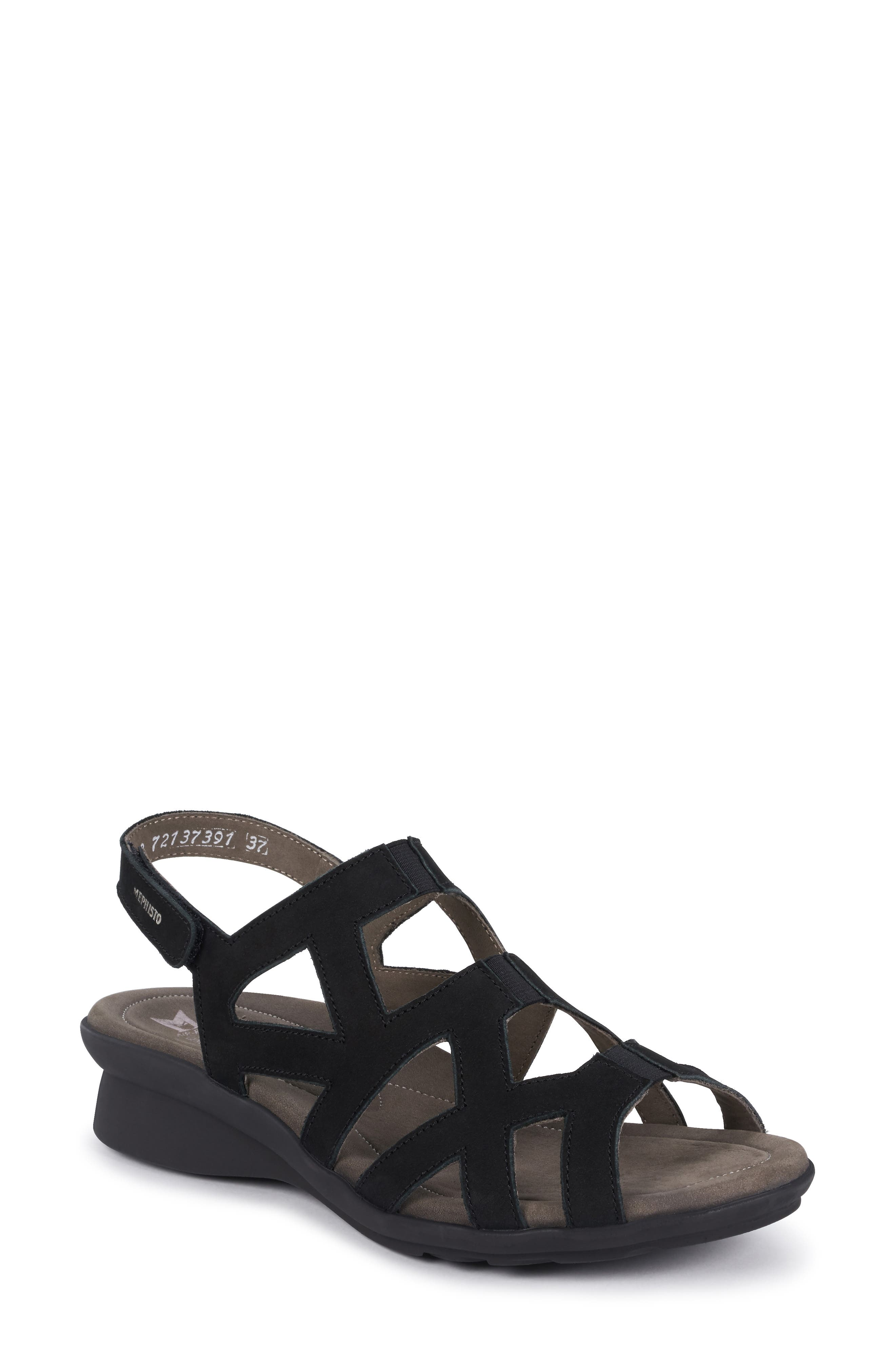 MEPHISTO Pamela Sandal, Main, color, BLACK NUBUCK