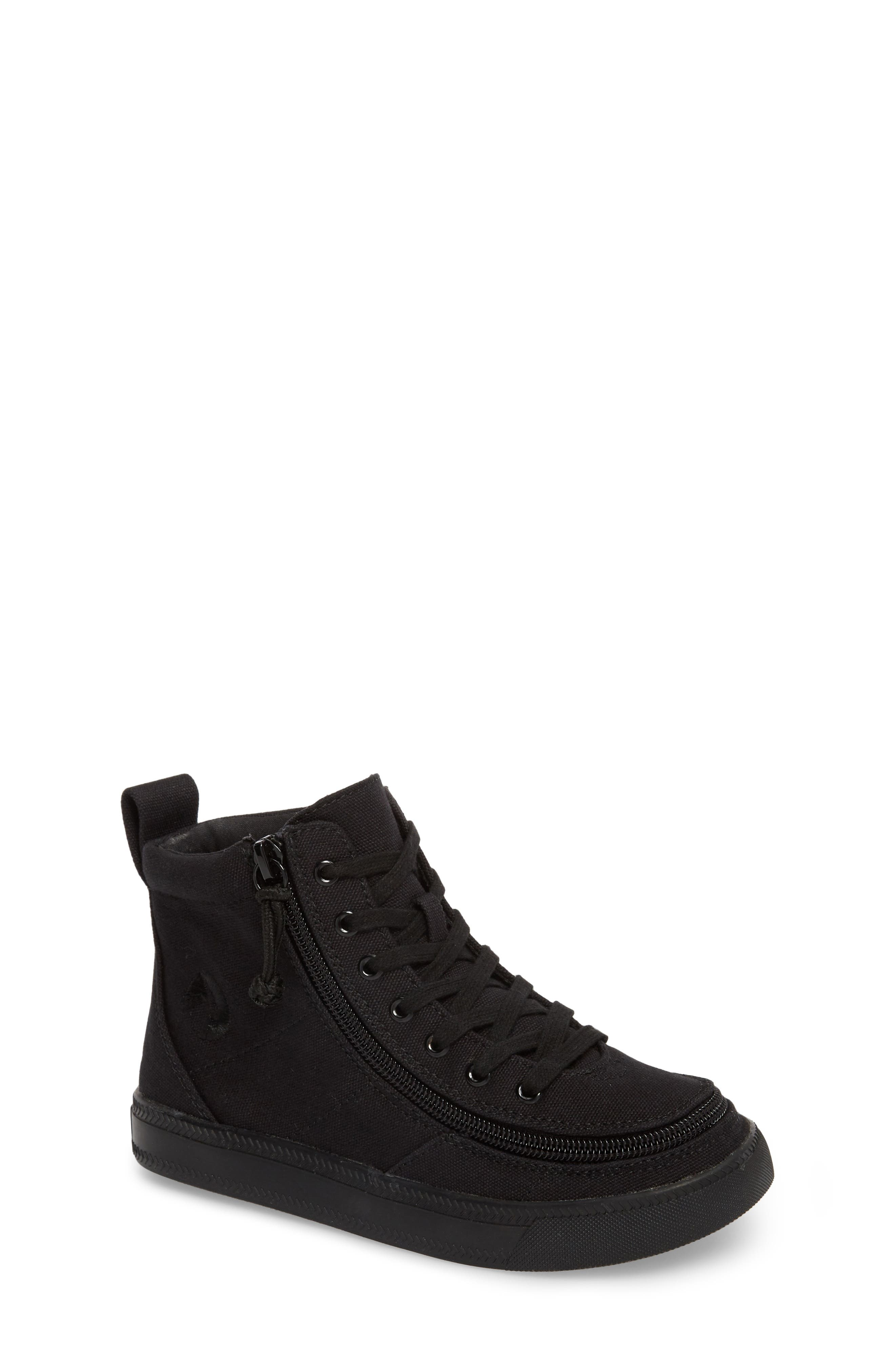 BILLY FOOTWEAR, Classic Hi-Rise Sneaker, Main thumbnail 1, color, BLACK TO THE FLOOR