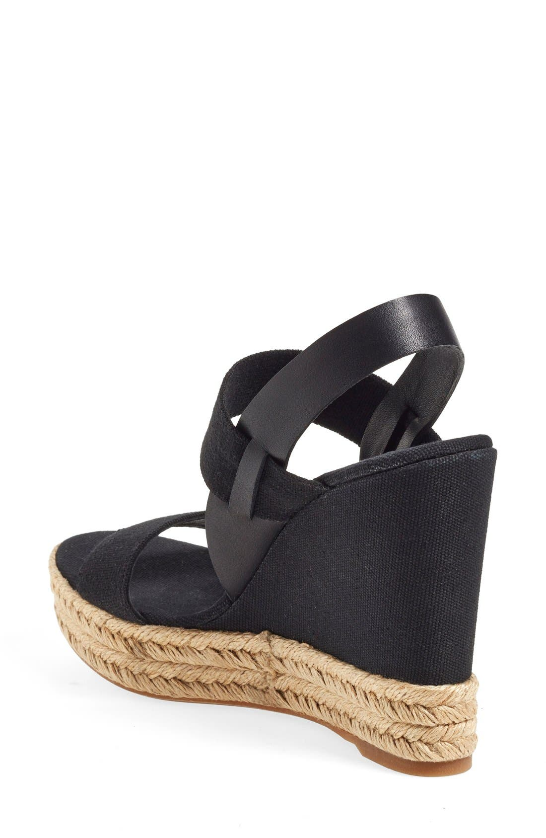 TORY BURCH, Espadrille Wedge Sandal, Alternate thumbnail 2, color, 009