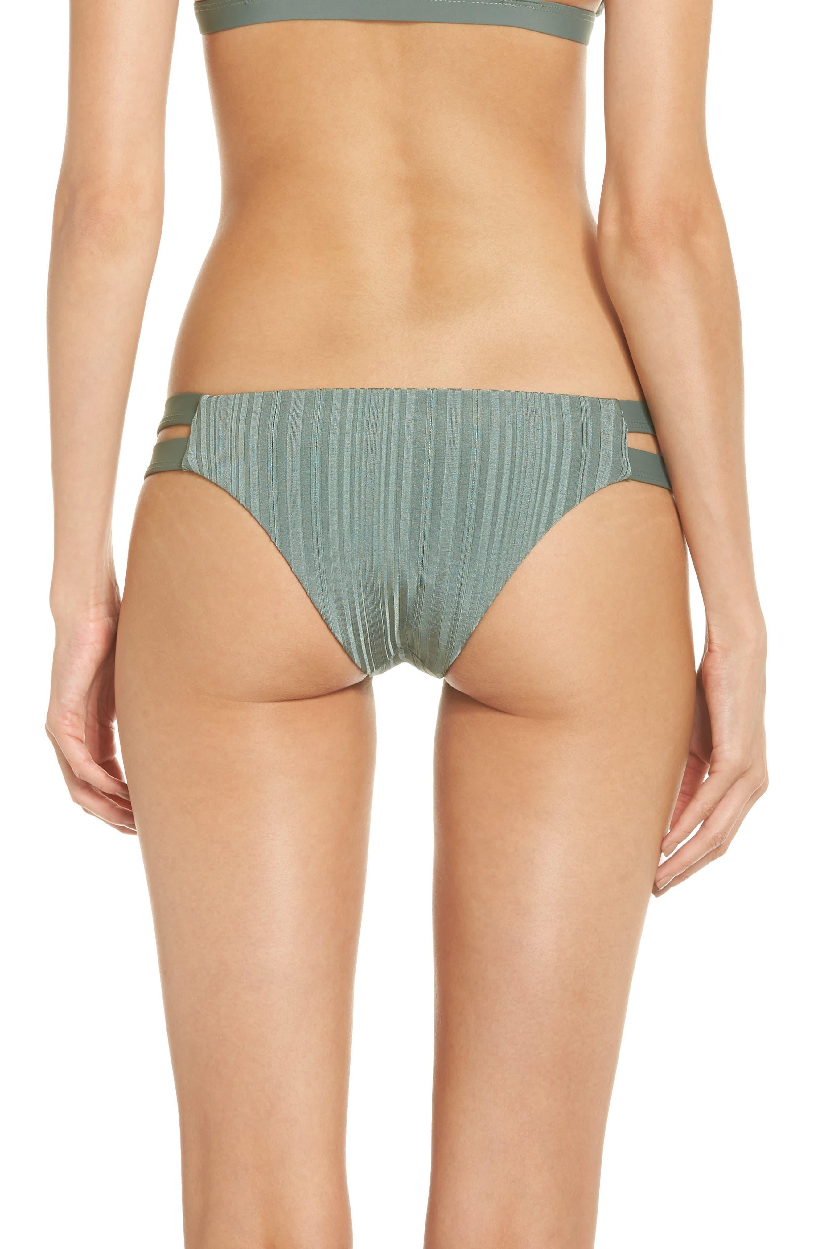 TAVIK, Chloe Bikini Bottoms, Alternate thumbnail 2, color, MEADOW GREEN