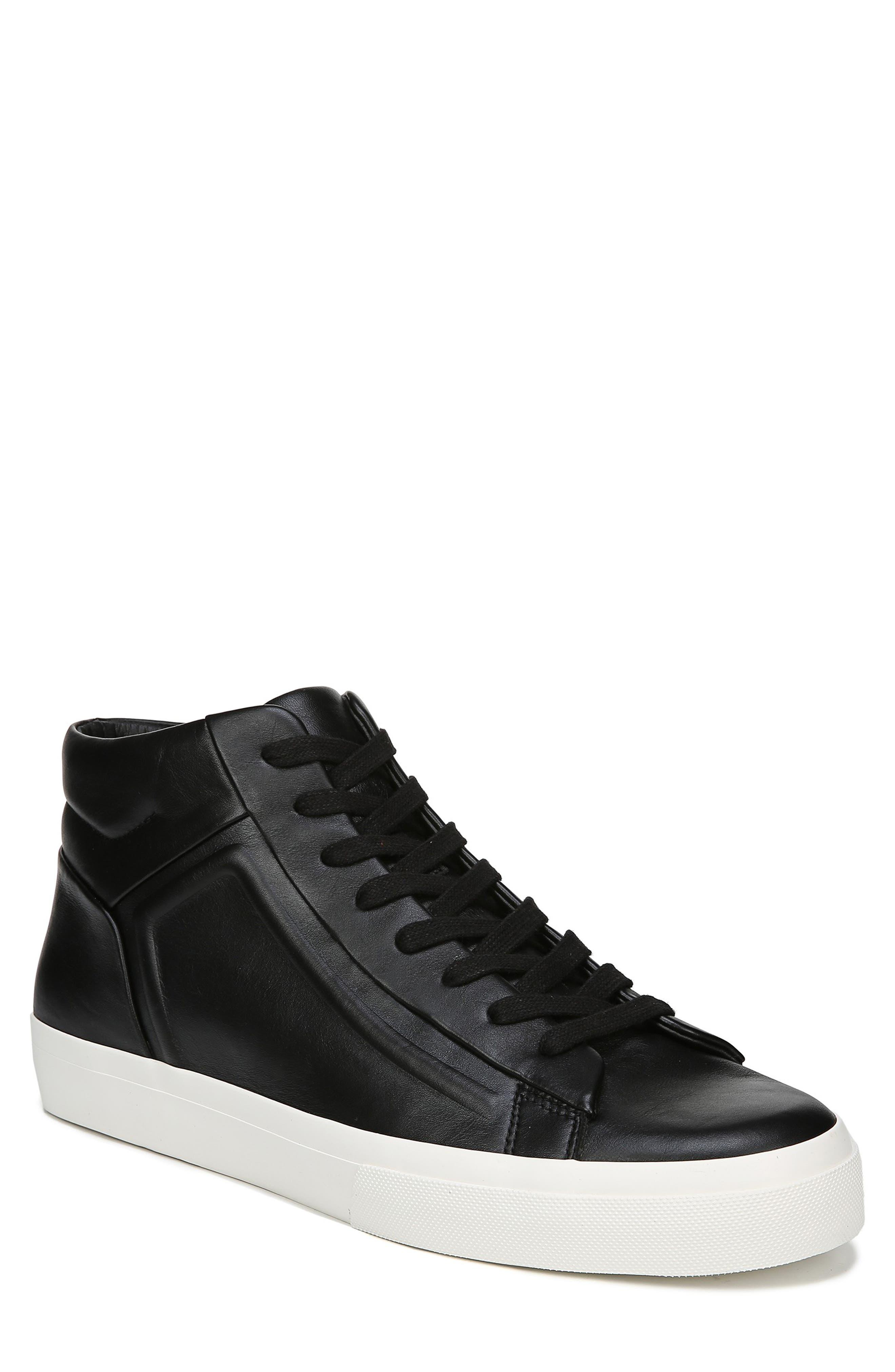 VINCE, Fynn High Top Sneaker, Main thumbnail 1, color, BLACK